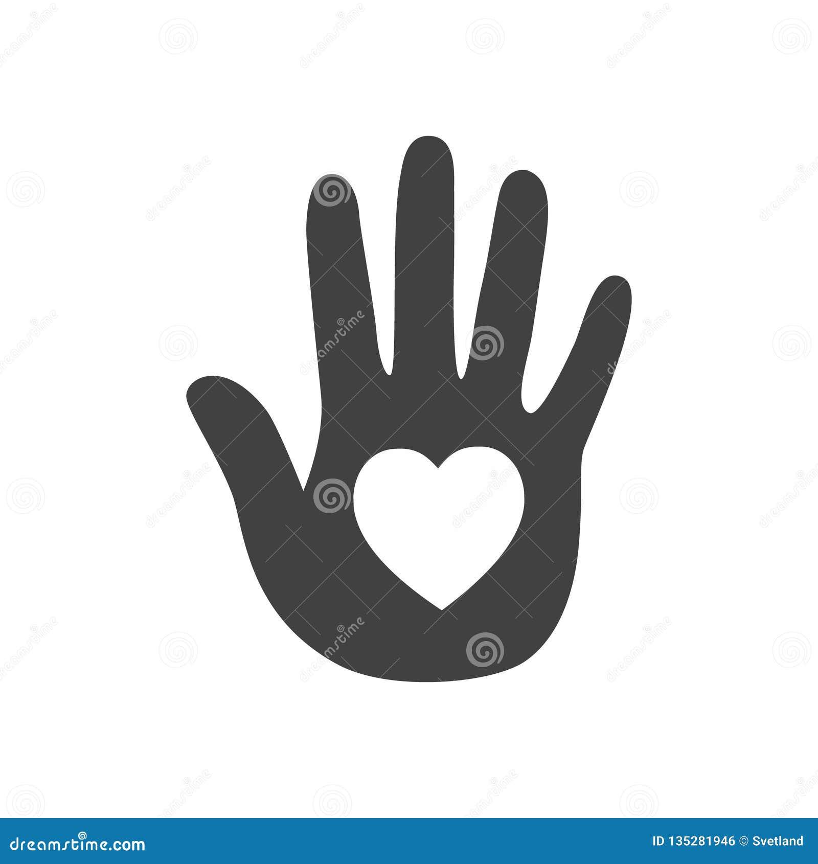 Сердце в руке зацепляет икону
