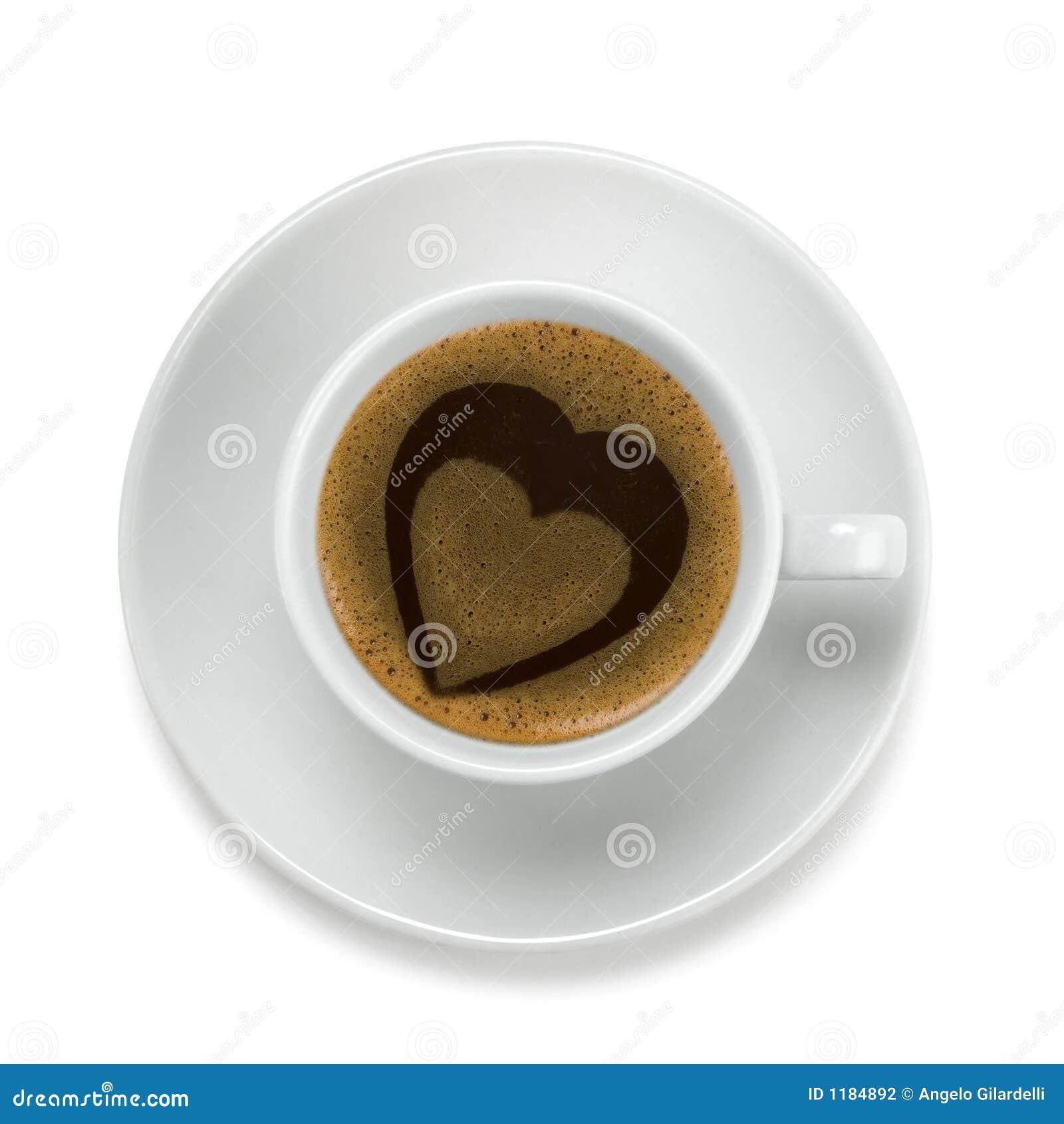 сердце кофейной чашки