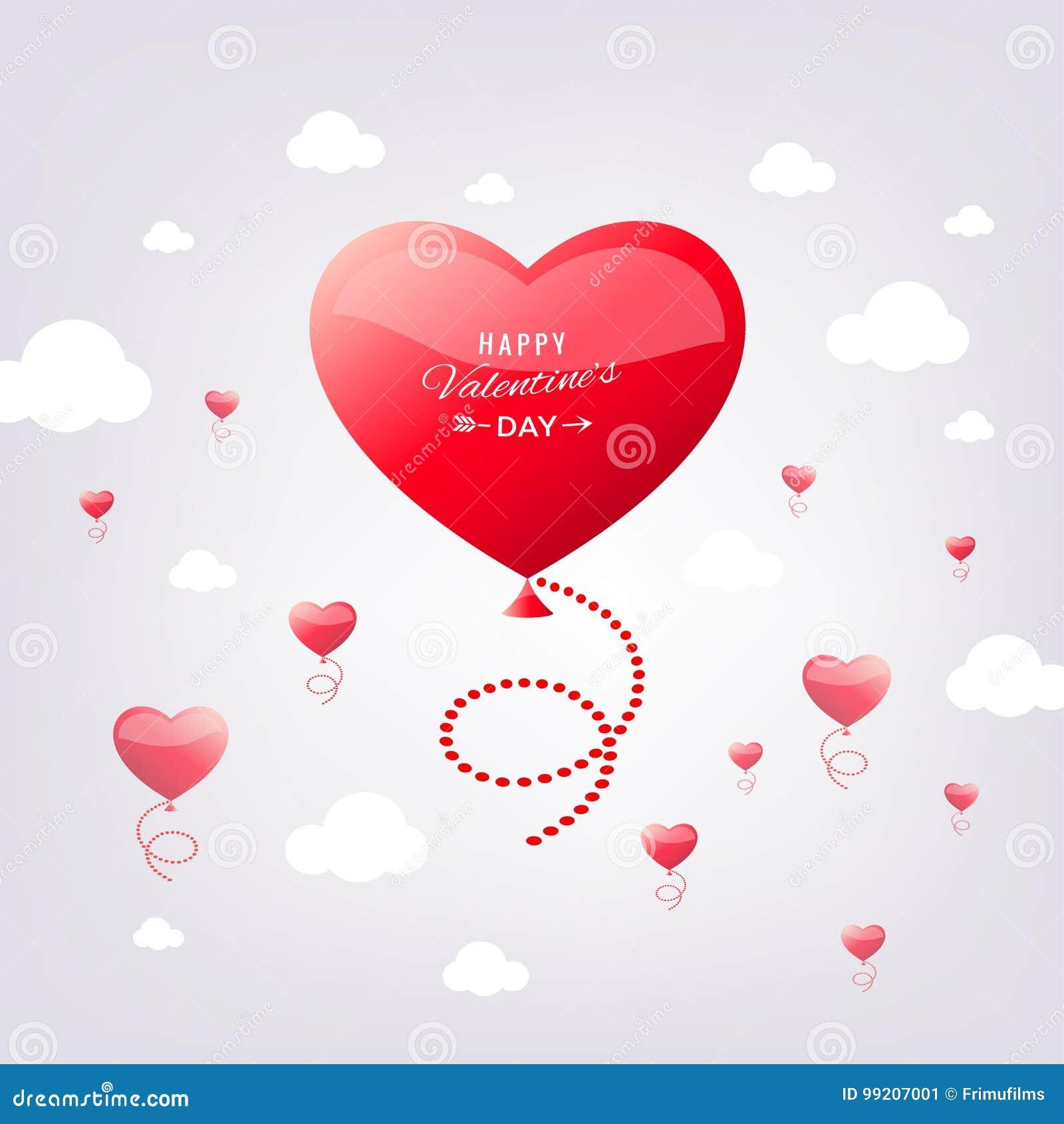 Сердце красного цвета вектора цифров