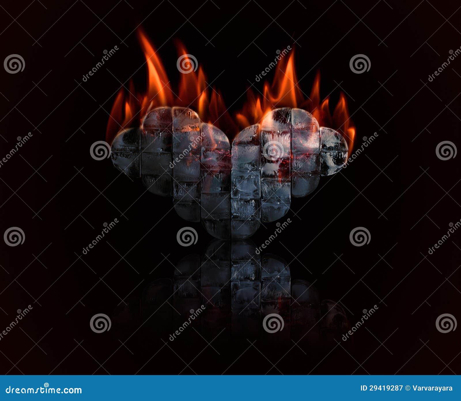 Сердце льда с пожаром