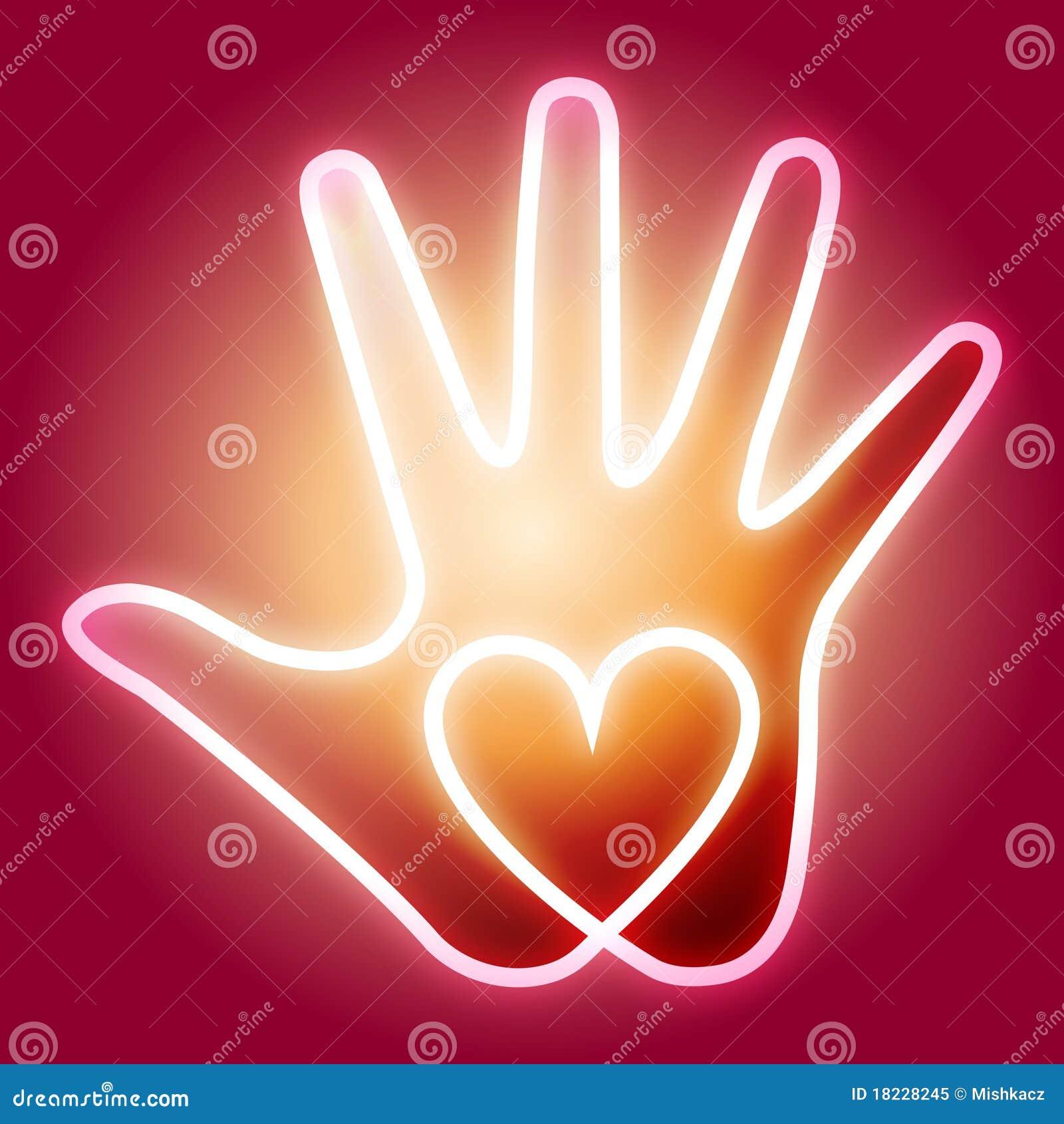 сердце руки