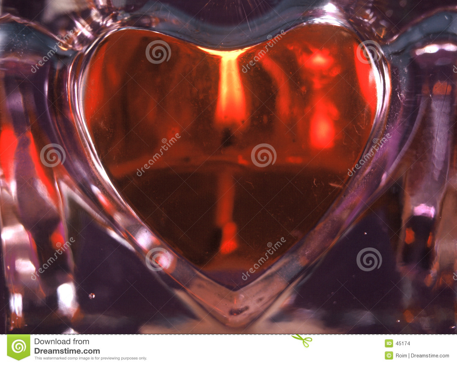 сердце свечки