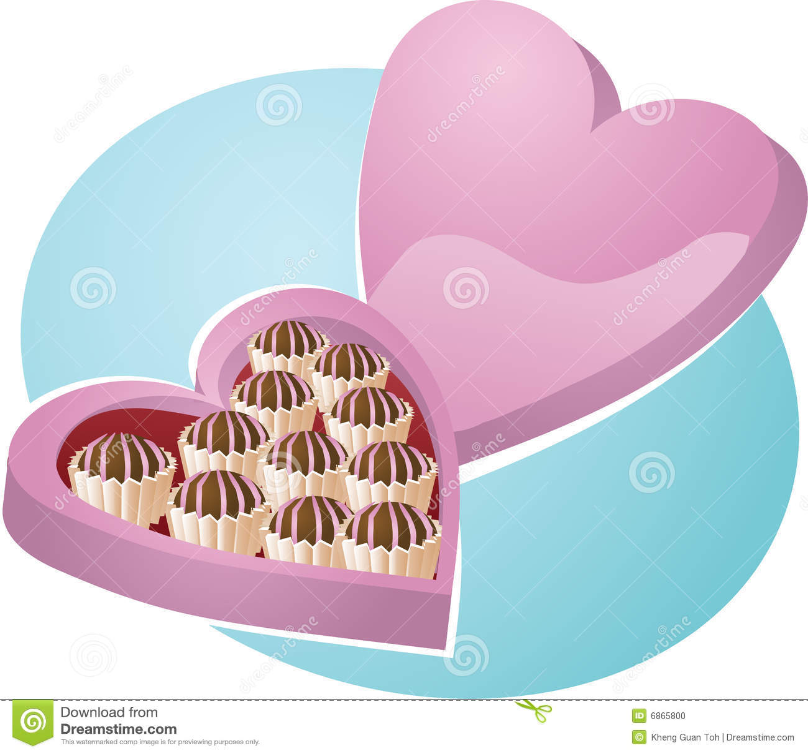 сердце шоколадов коробки сформировало