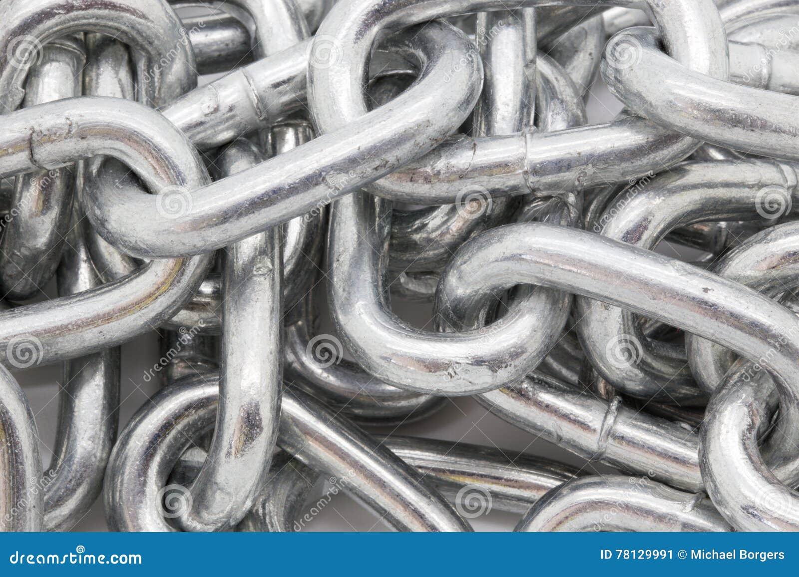 Серебряное сияющее closeyp цепи металла