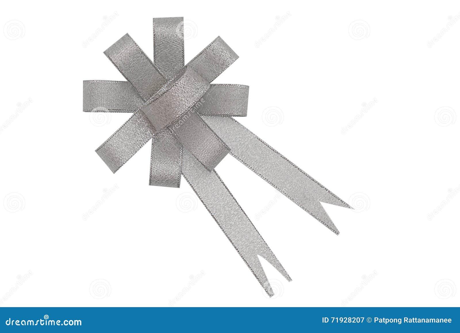 Серебряный изолированный смычок ленты