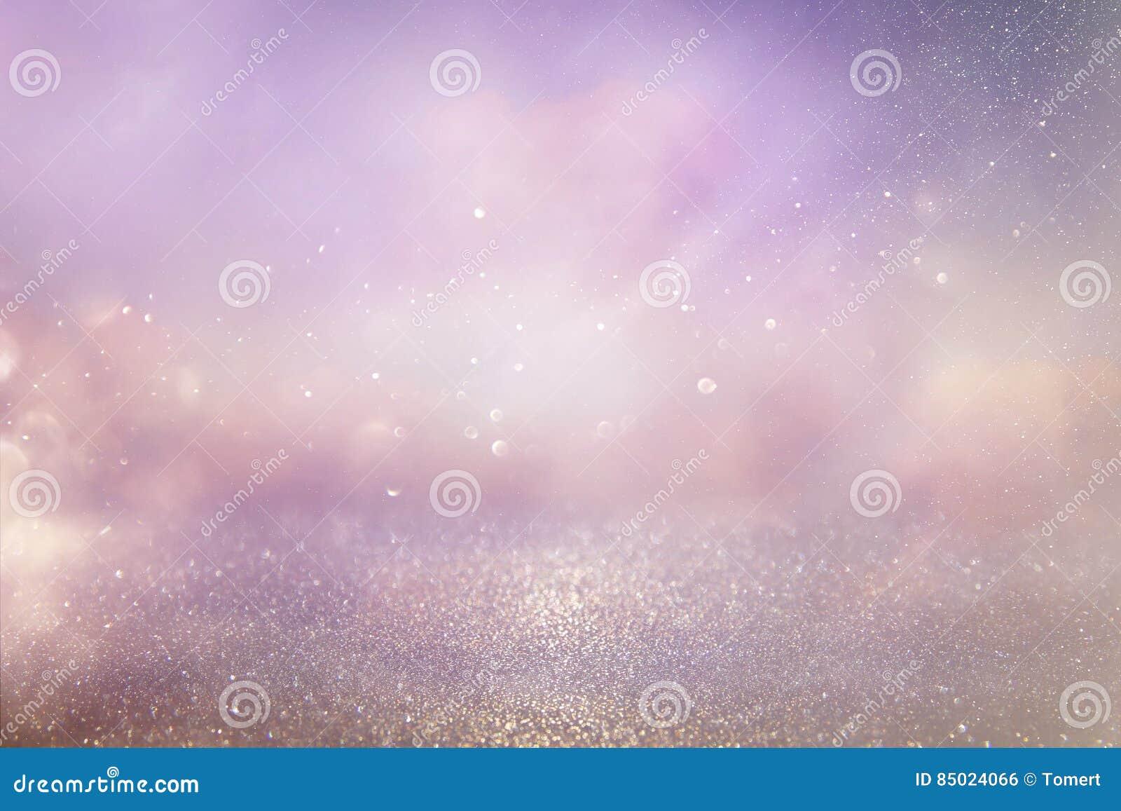 серебряный и розовый год сбора винограда яркого блеска освещает предпосылку