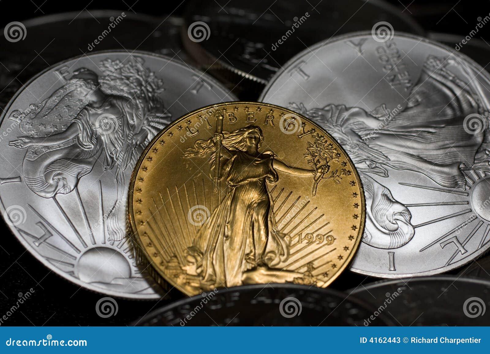 серебр золота монеток
