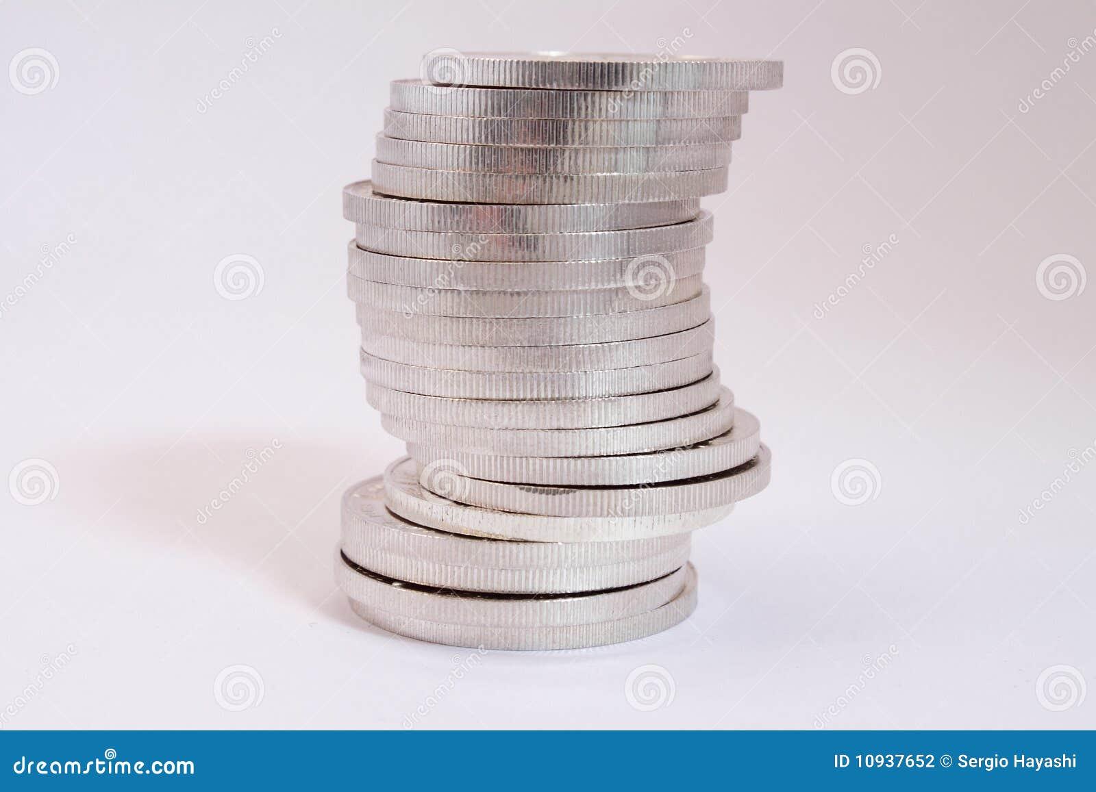 серебр кучи монеток
