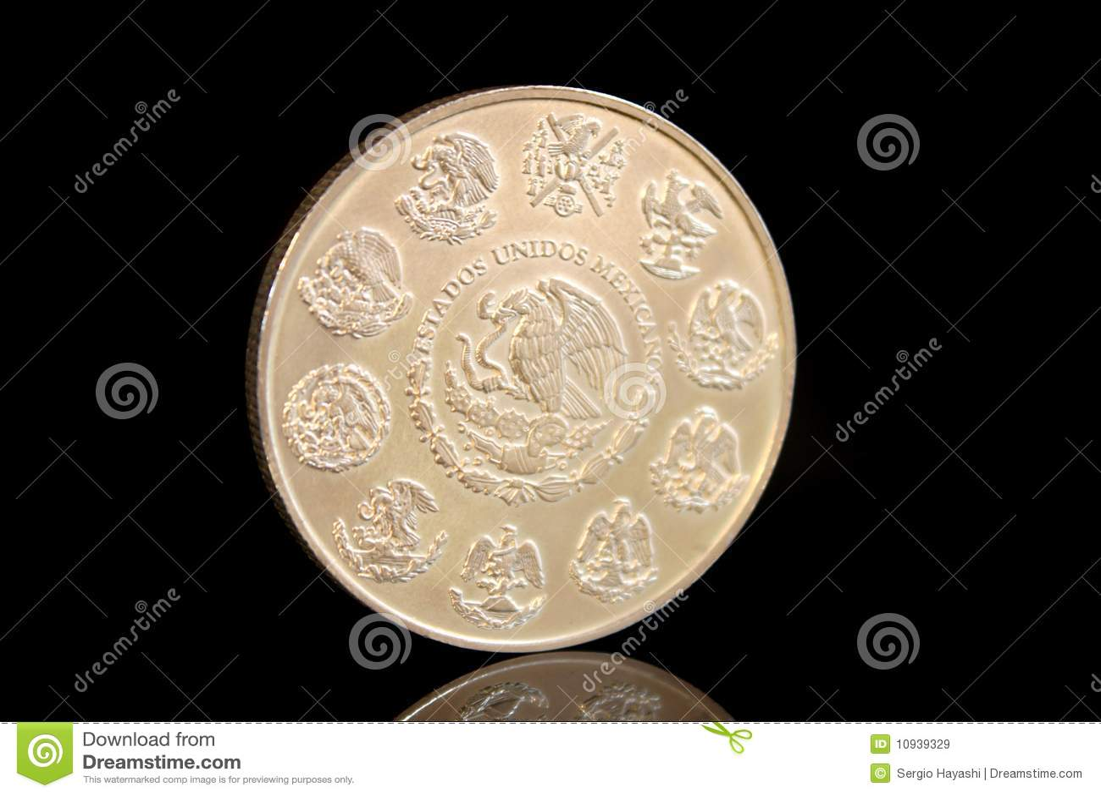 серебр мексиканца монетки