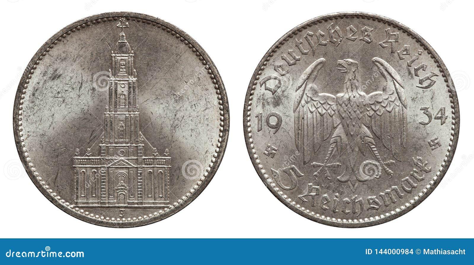 Серебр монетки Германия 5 меток 1934