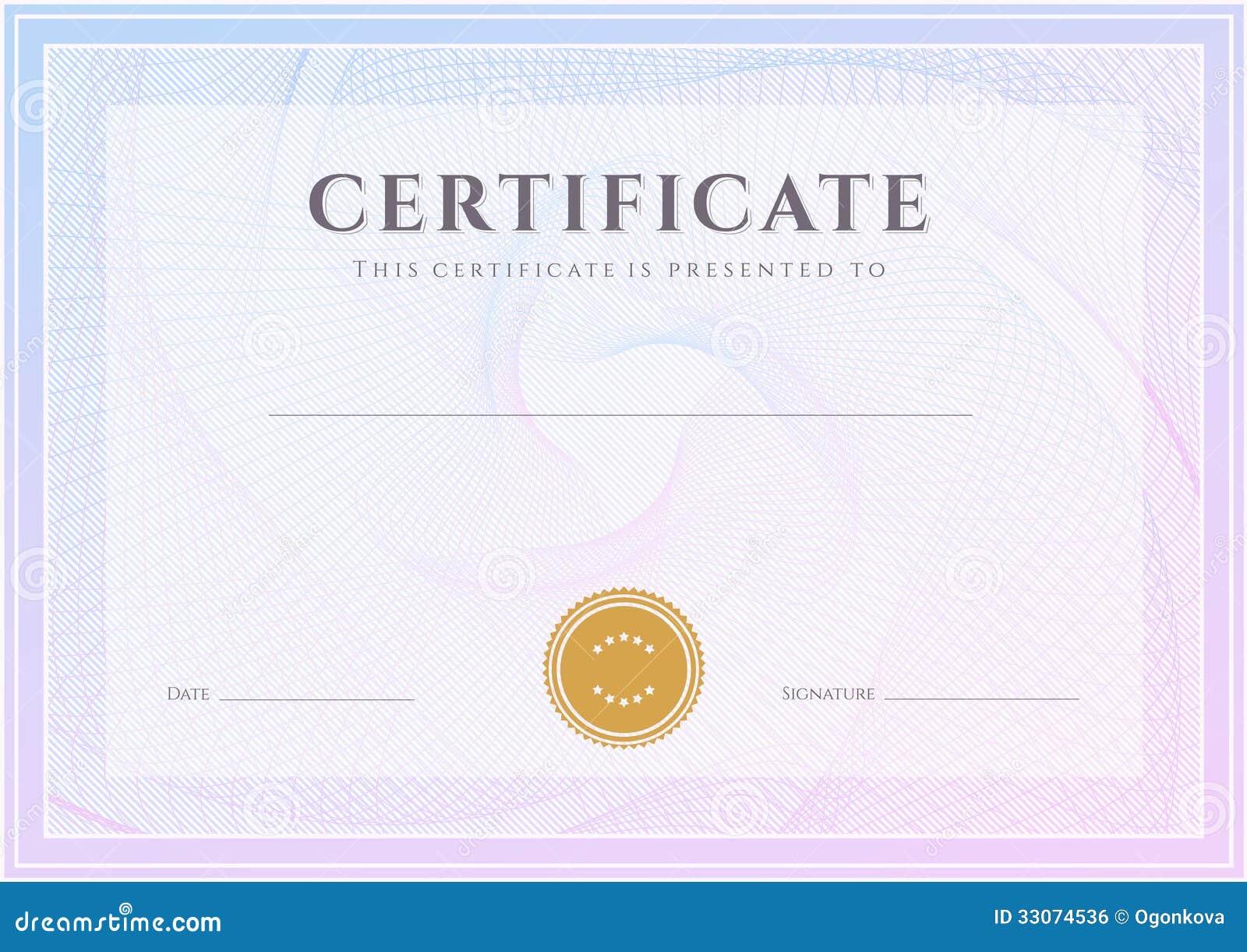 Сертификат шаблон диплома Картина награды Иллюстрация вектора  Сертификат шаблон диплома Картина награды