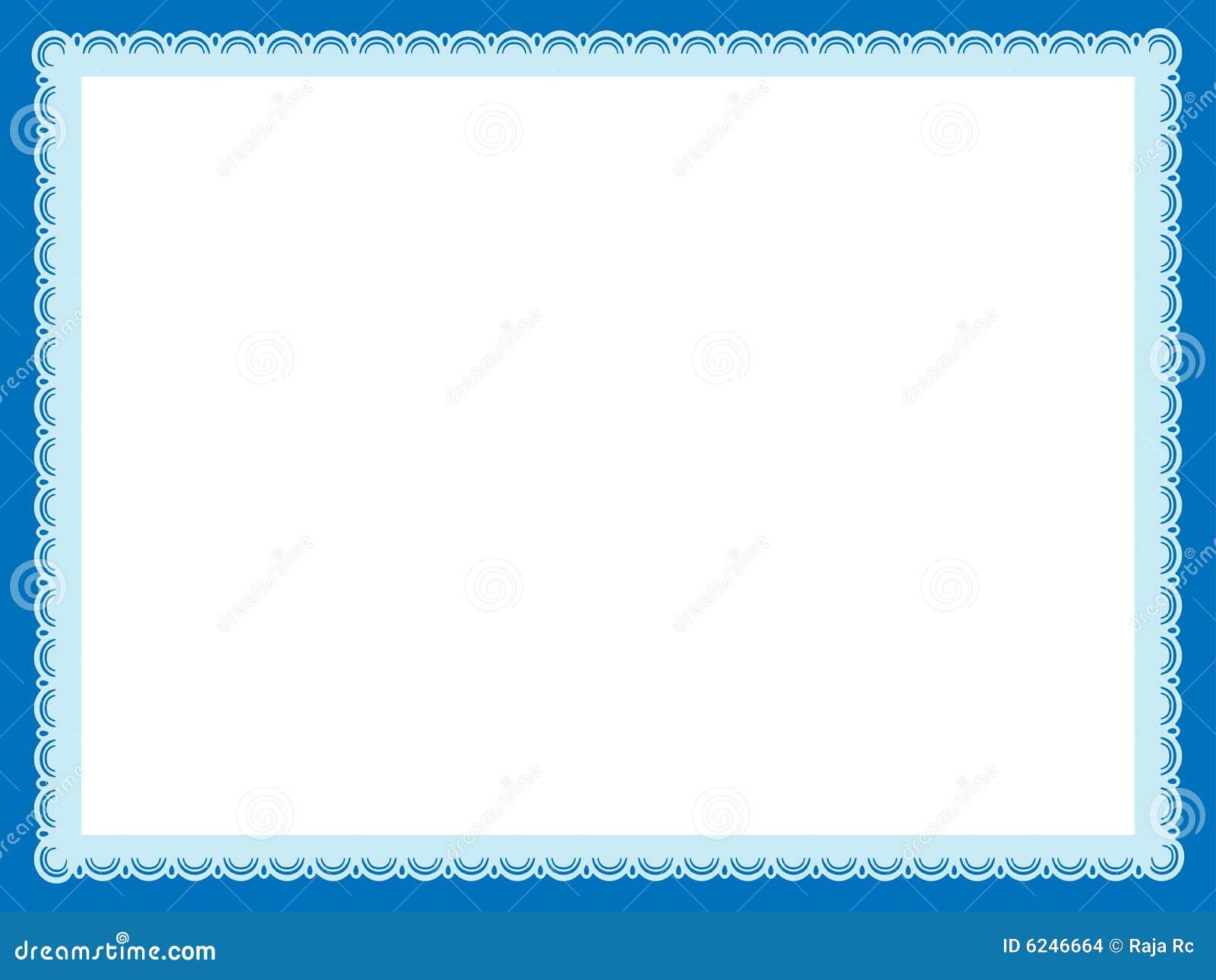 Blue Certificate Template Mandegarfo