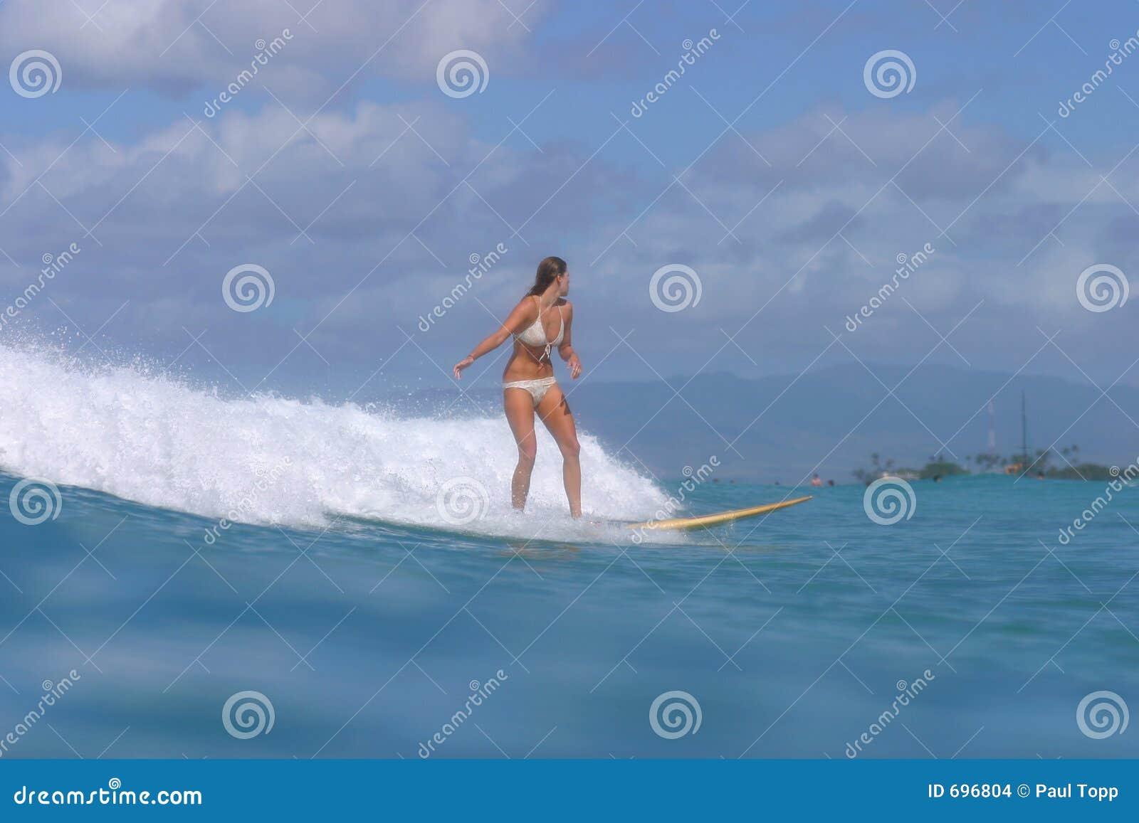 серфер Гавайских островов девушки