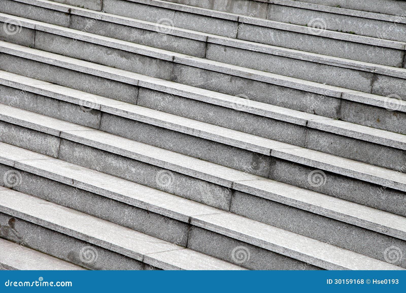 Серые каменные шаги