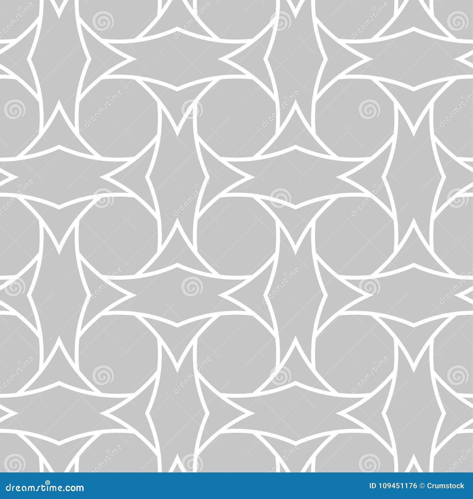 Серый и белый геометрический орнамент картина безшовная