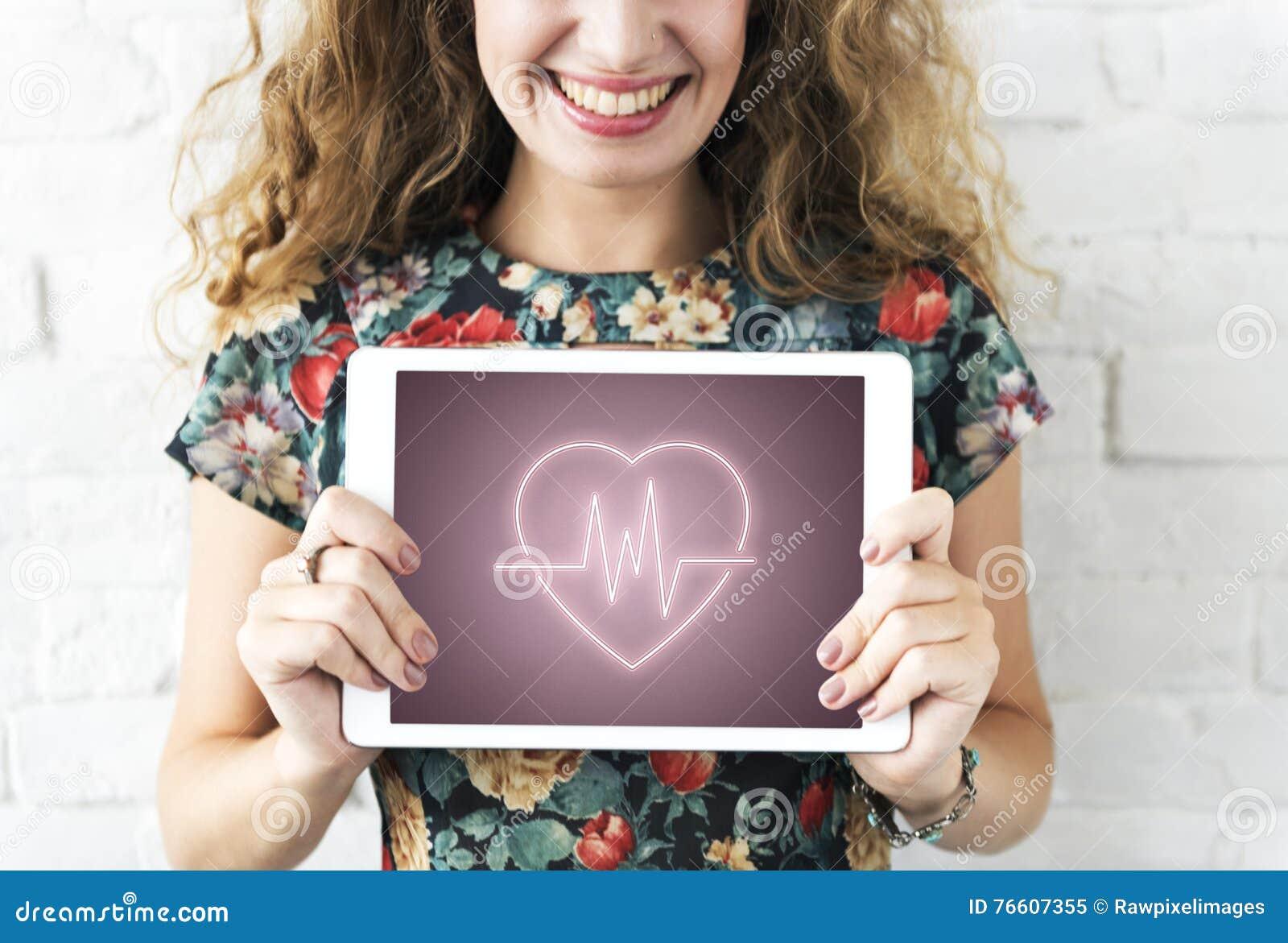 Сердечная концепция графика сердца сердечно-сосудистого заболевания