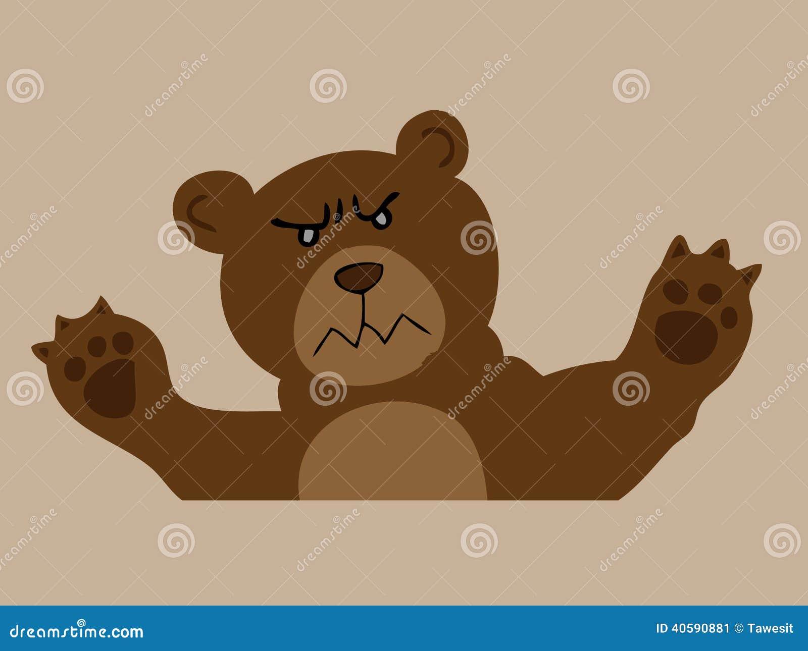 Сердитый бурый медведь
