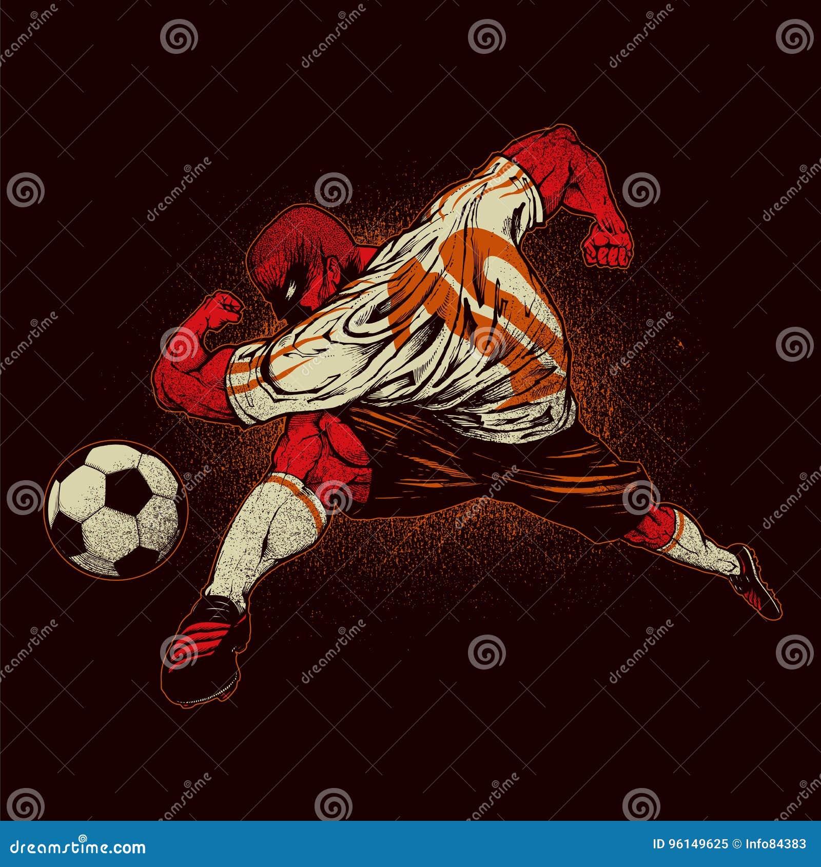 сердитый футбол игрока