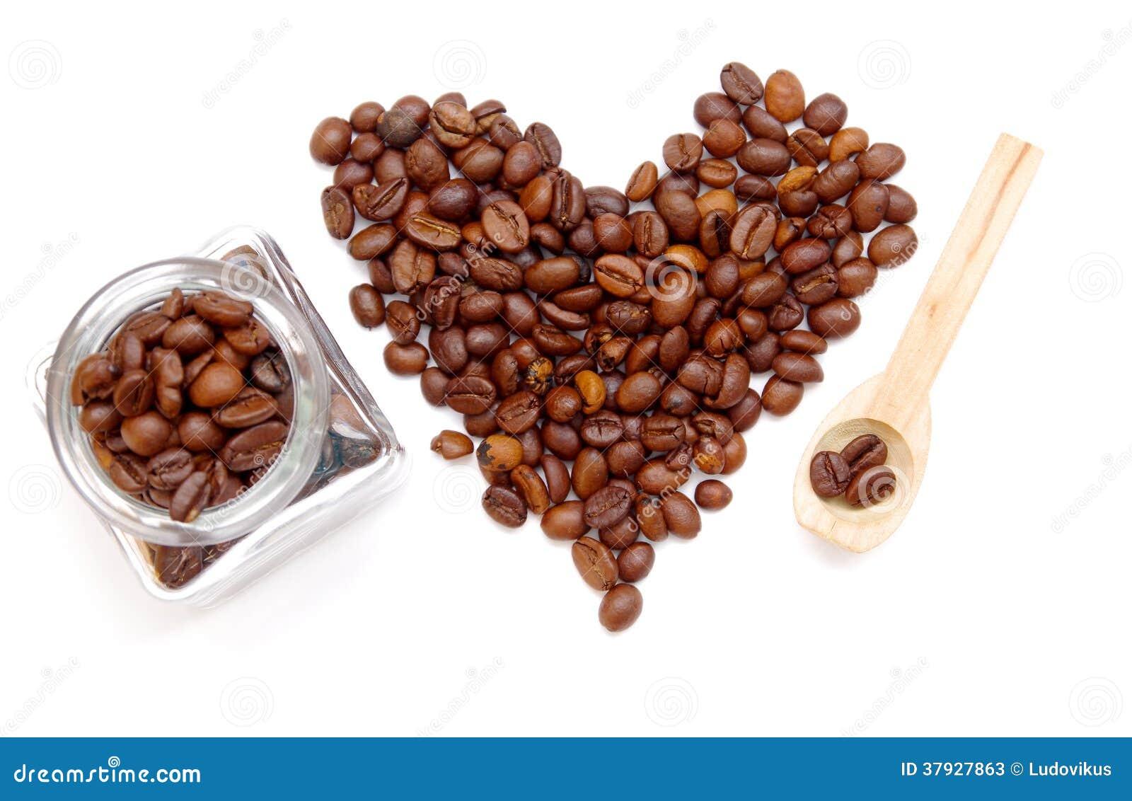 Сердце кофейных зерен