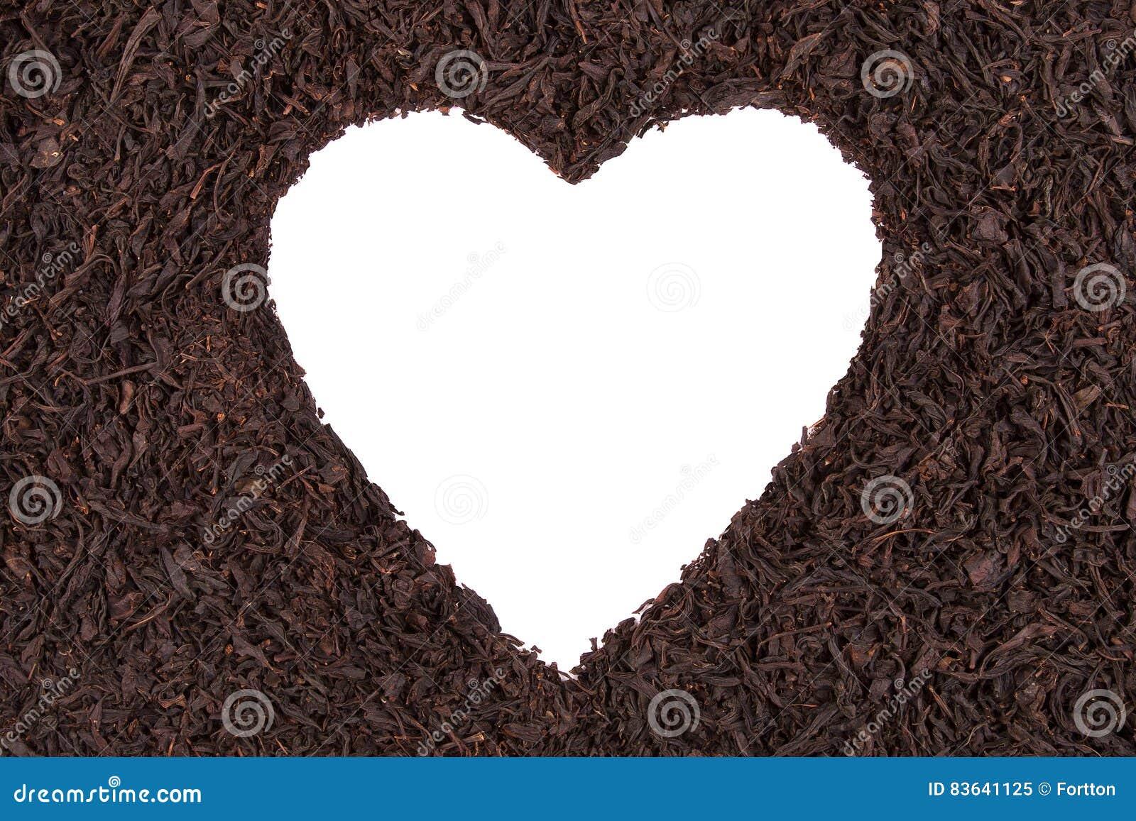 Сердце на предпосылке чая