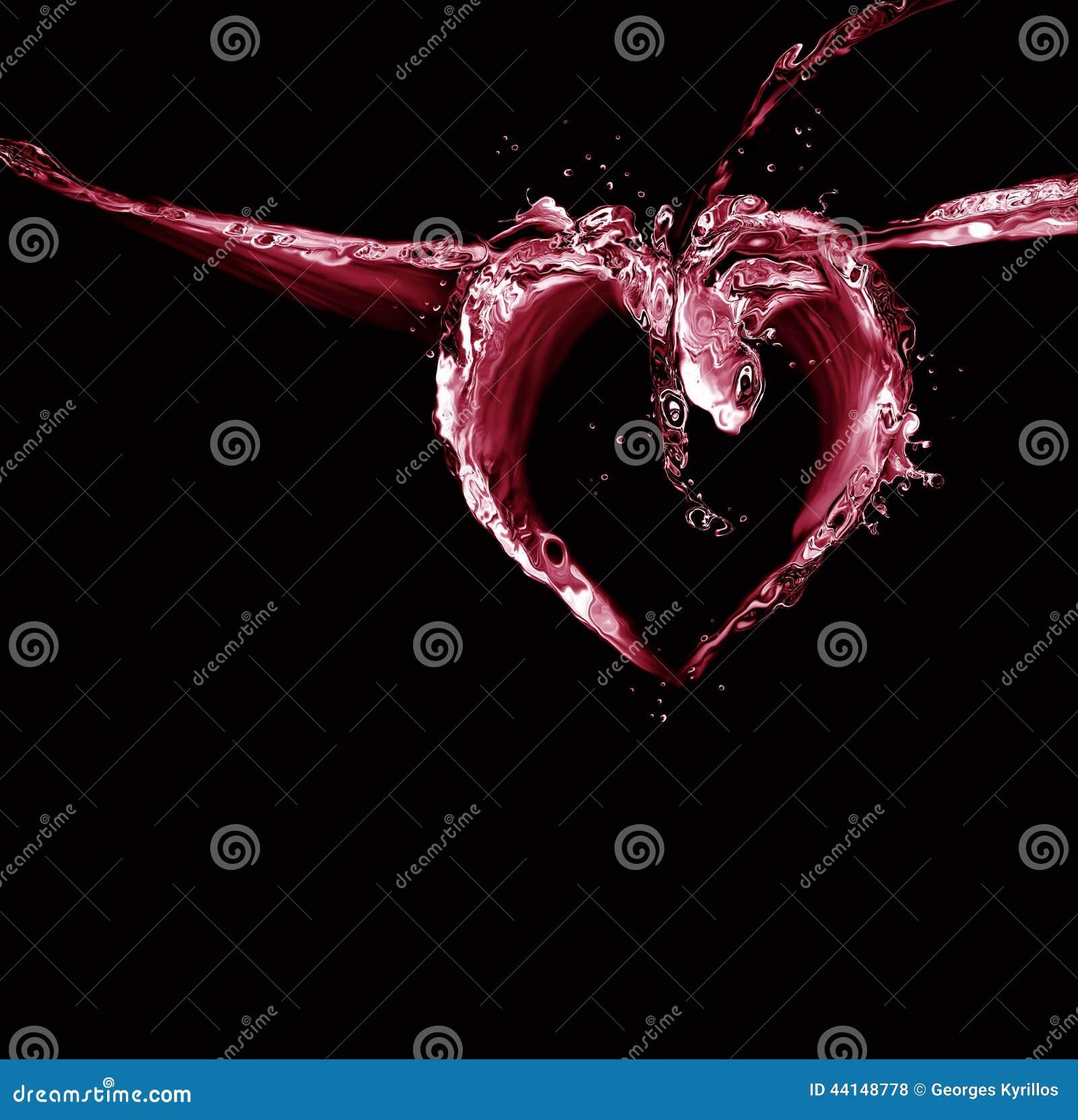 Сердце черной и красной воды