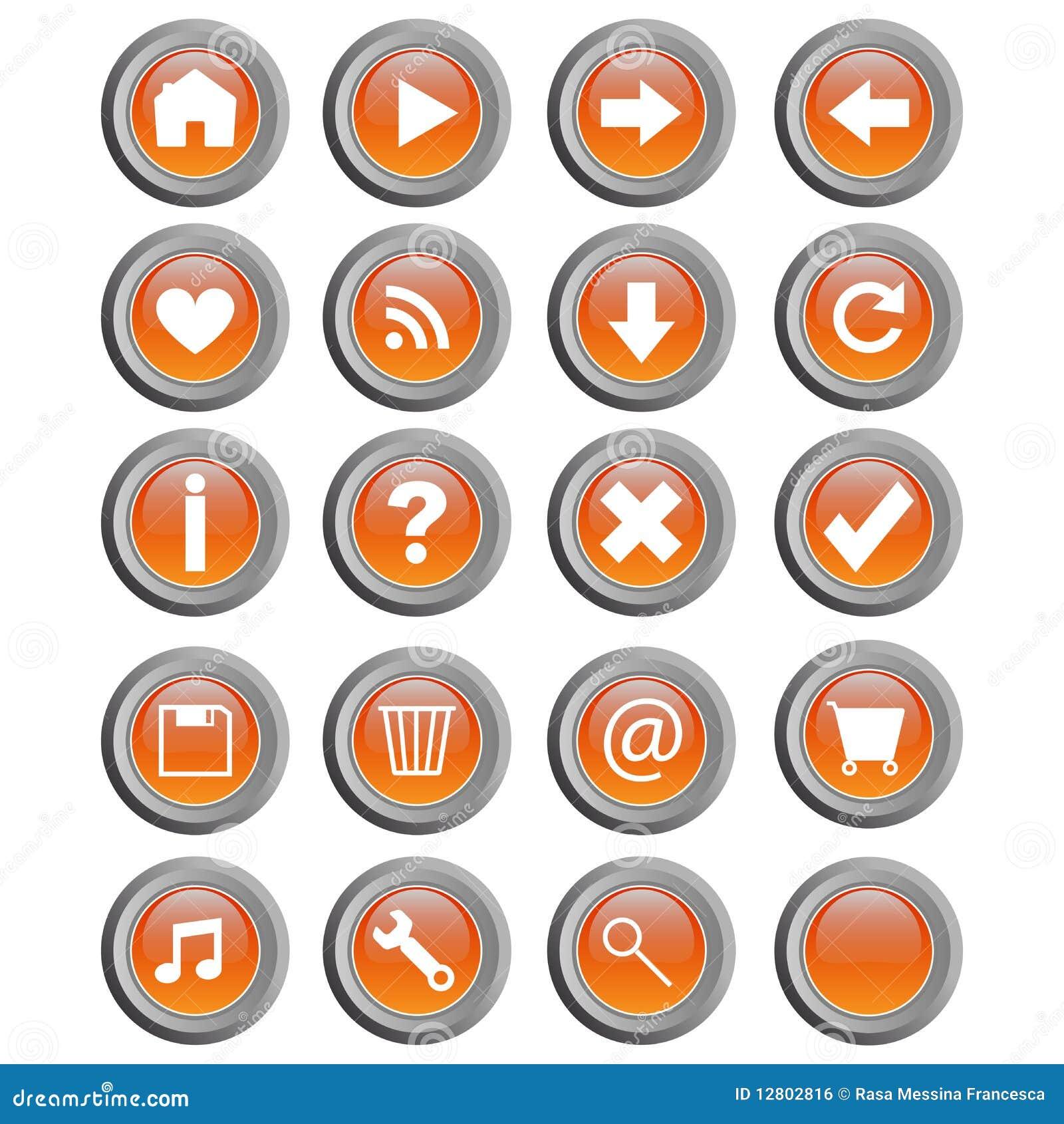сеть вектора кнопок круглая