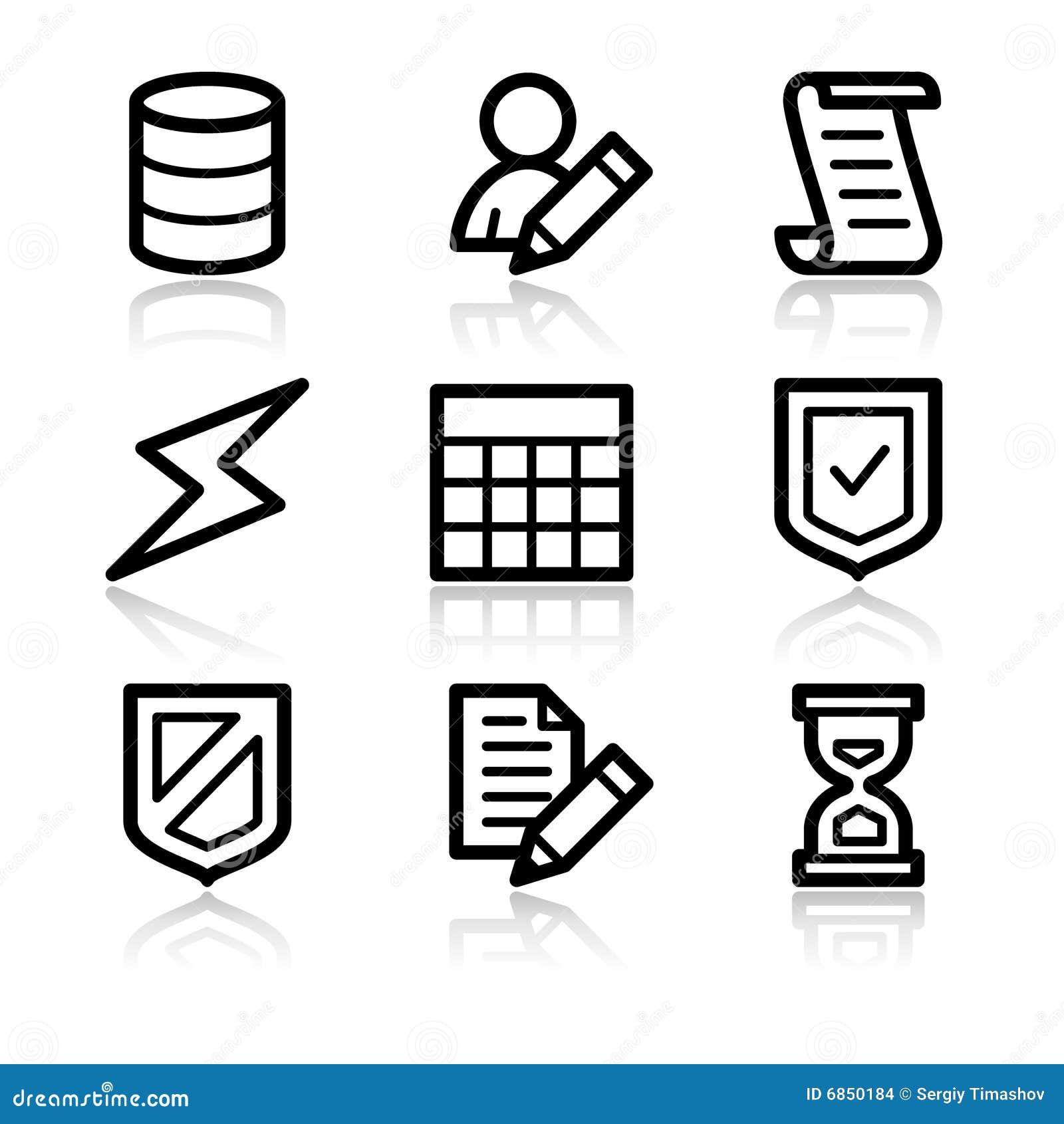 сеть икон базы данных контура