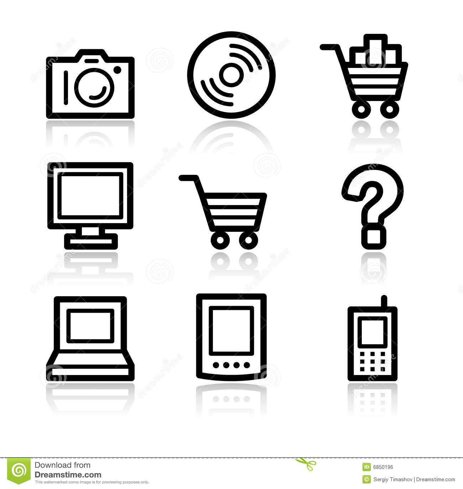 сеть икон электроники контура