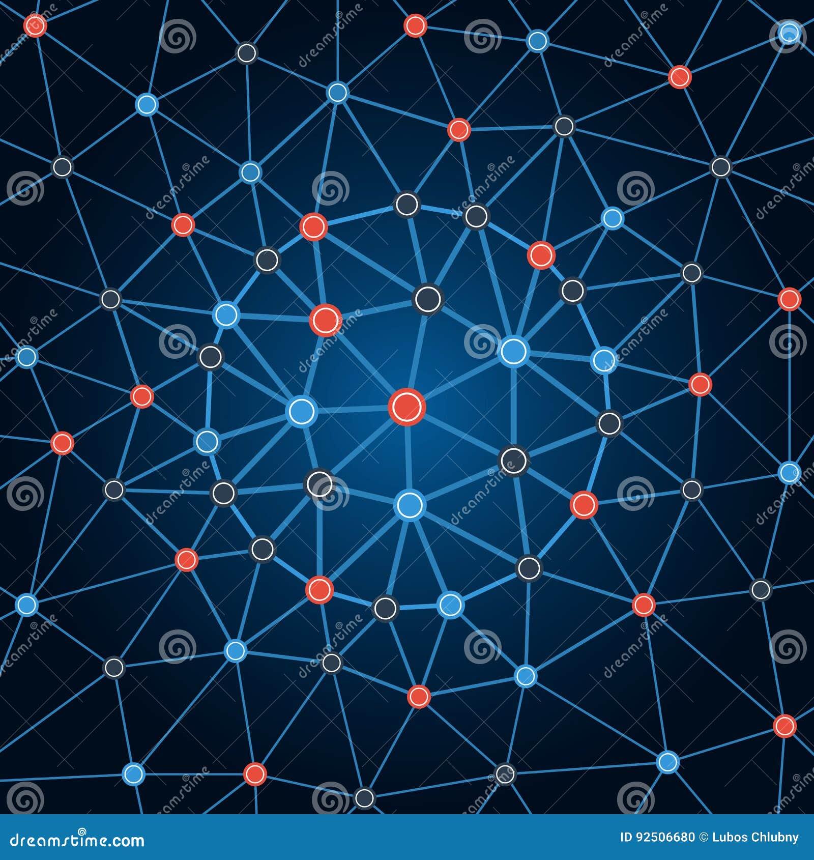 Сеть предпосылки Предпосылка объезжает точки и линии