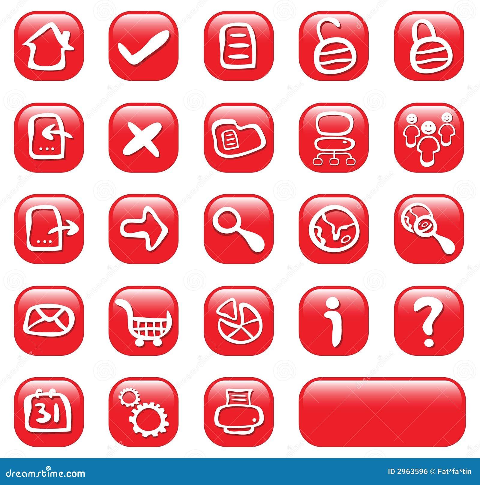 сеть 23 кнопок лоснистая красная