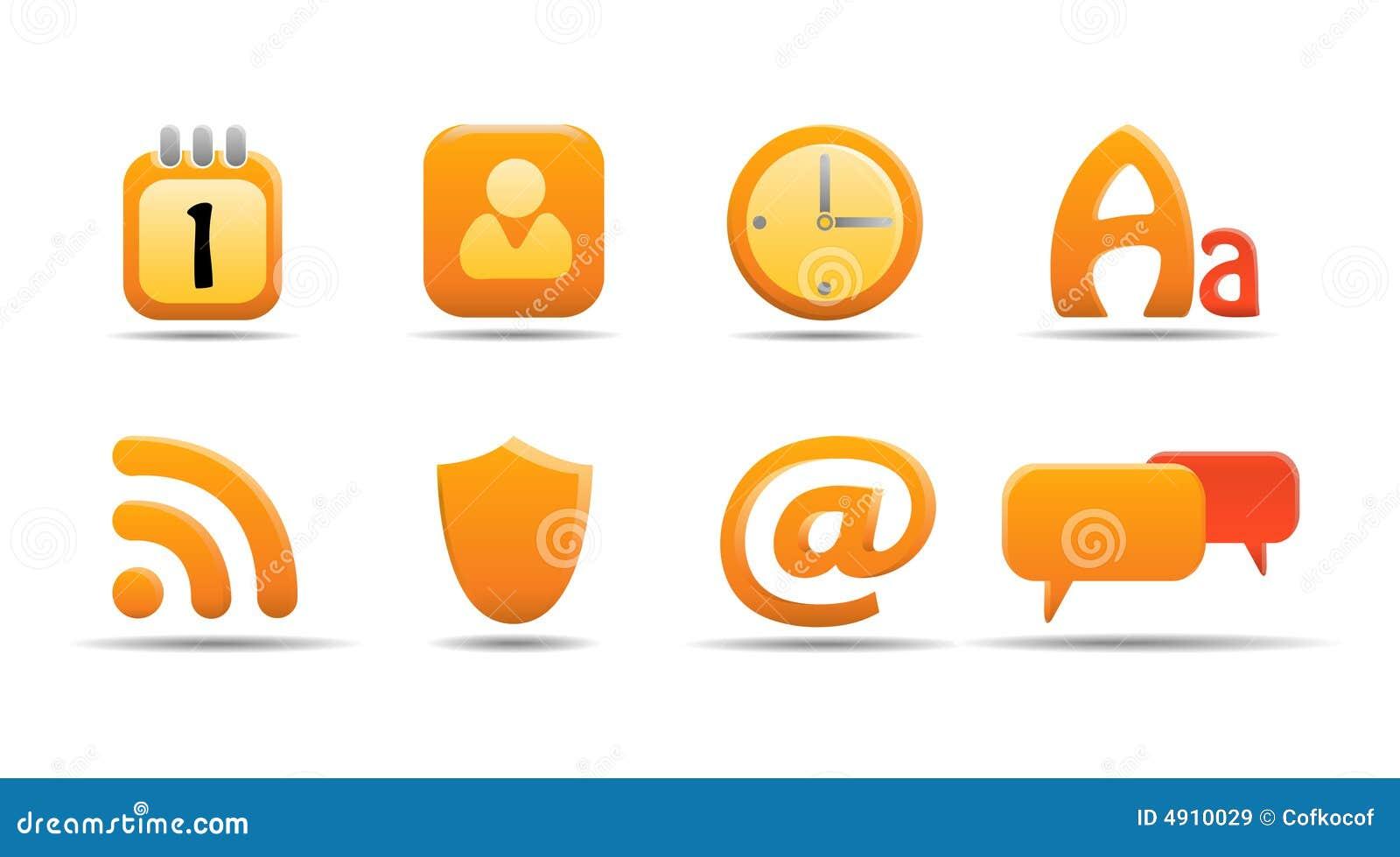 сеть 6 серий тыквы иконы установленная