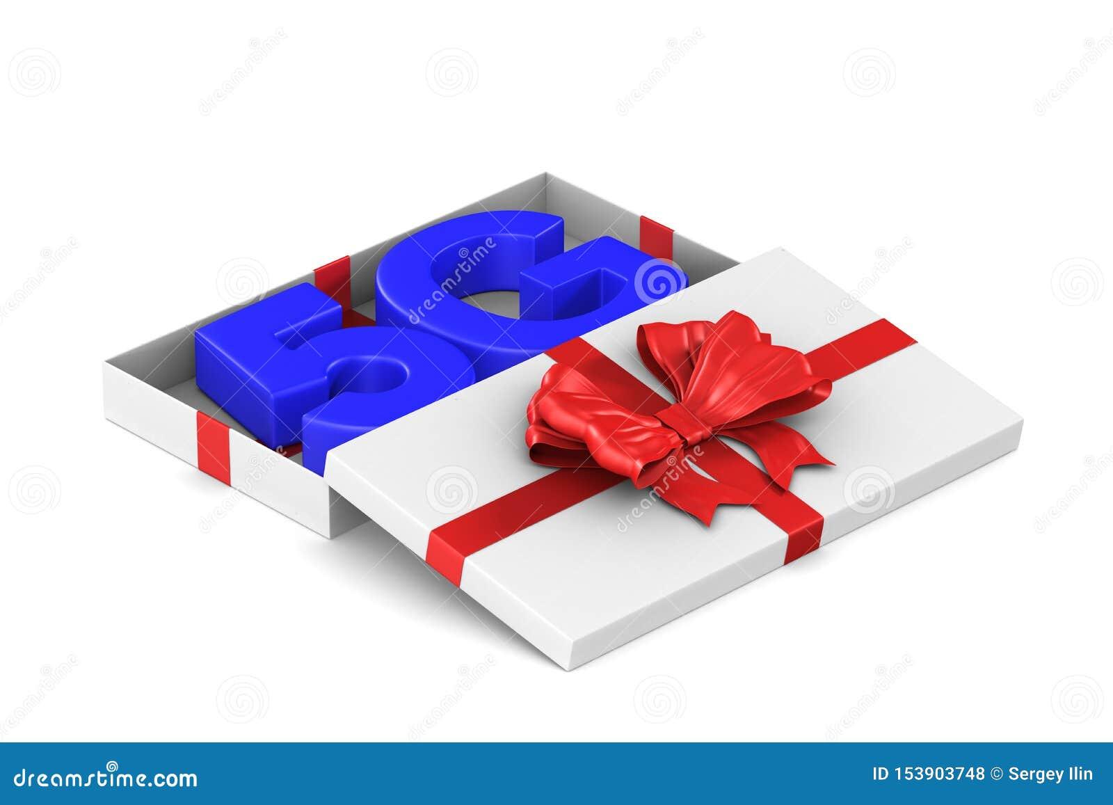 сеть 5g в открытую подарочную коробку на белой предпосылке r