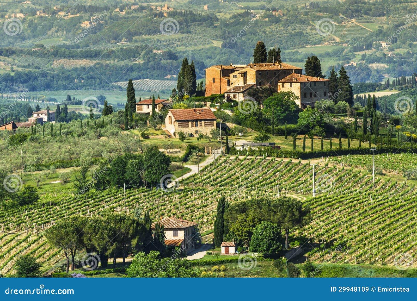 Ландшафт Тосканы сельский