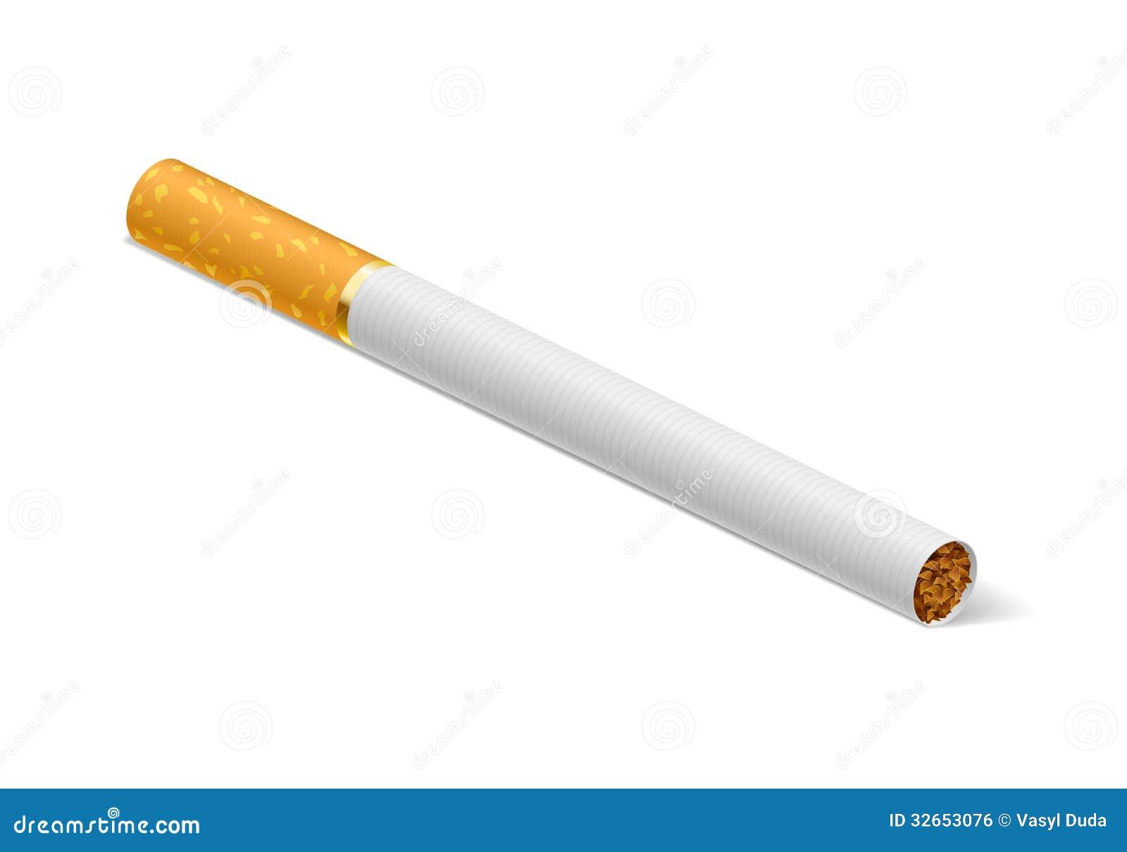 smoking cigarettes outline