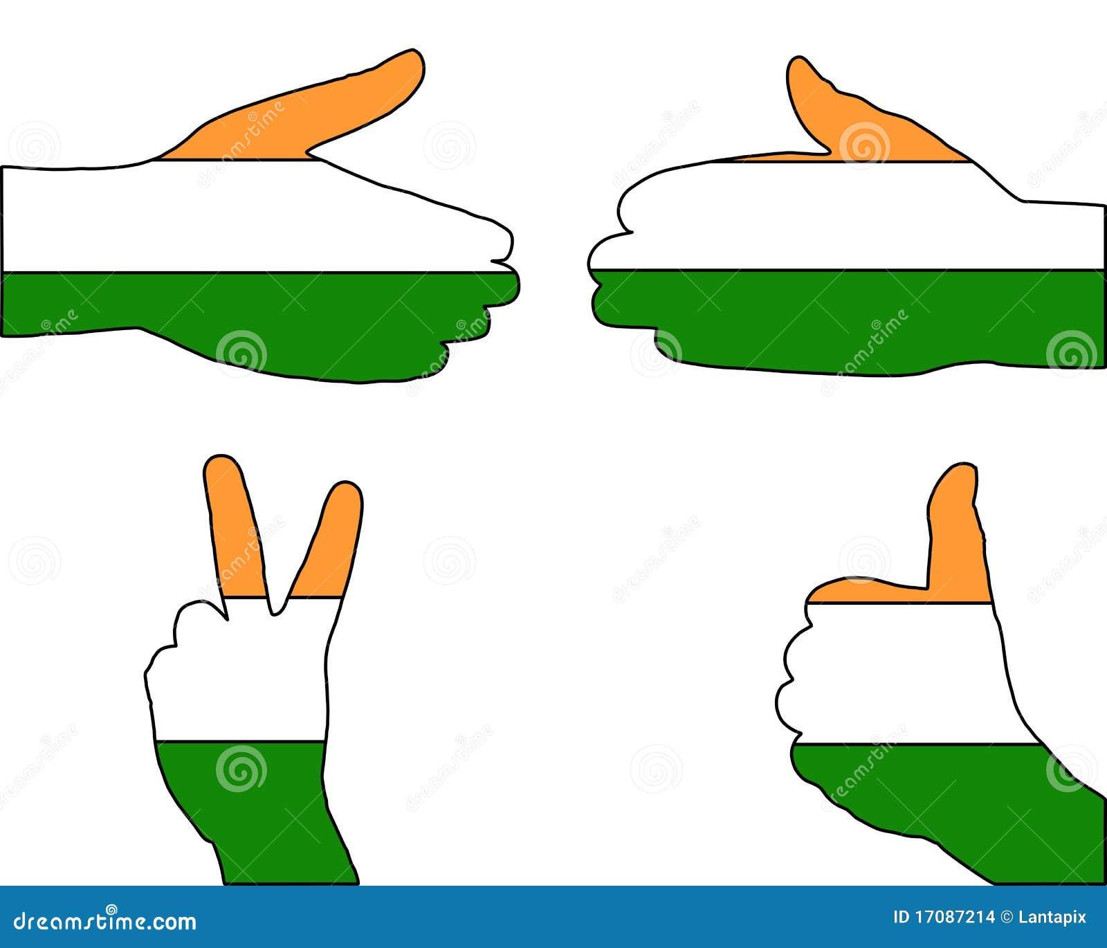 сигнал Индии руки