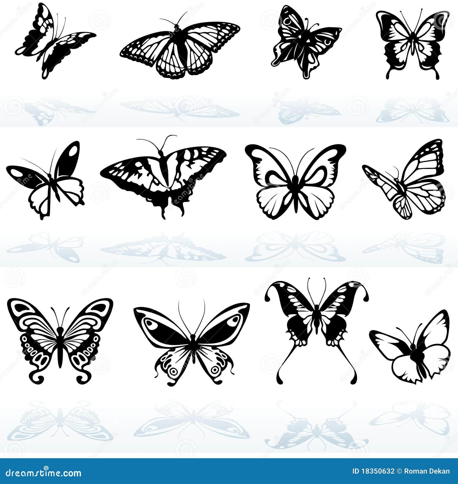 Стоковая фотография силуэты бабочки