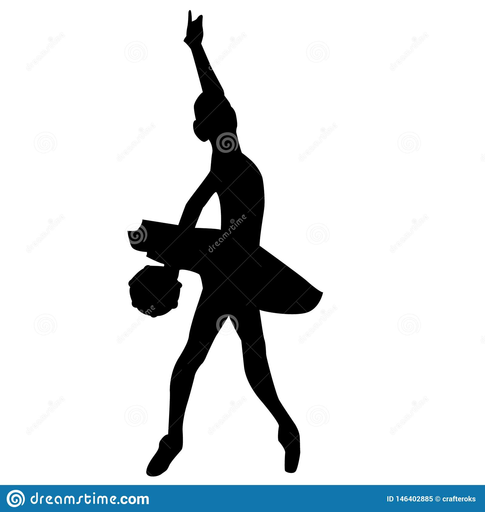 Силуэт артиста балета crafteroks