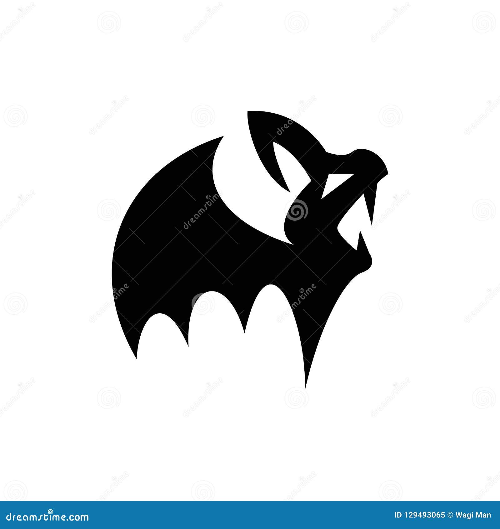 Силуэт вампира ребенка, небольших и пугающего летучей мыши для атрибутов хеллоуина