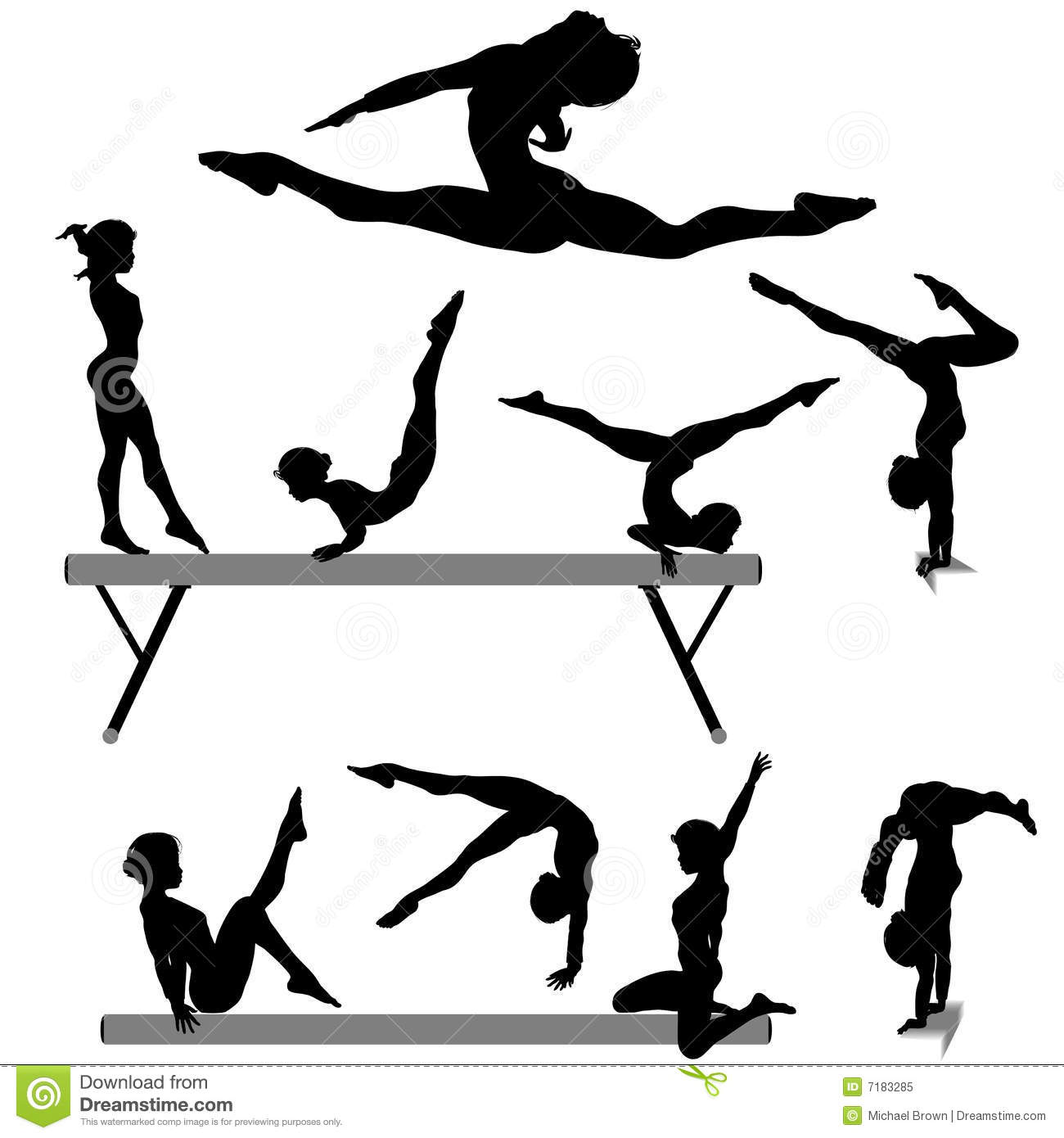 hand painted wall murals with gymnastics silhouettes - Google ...