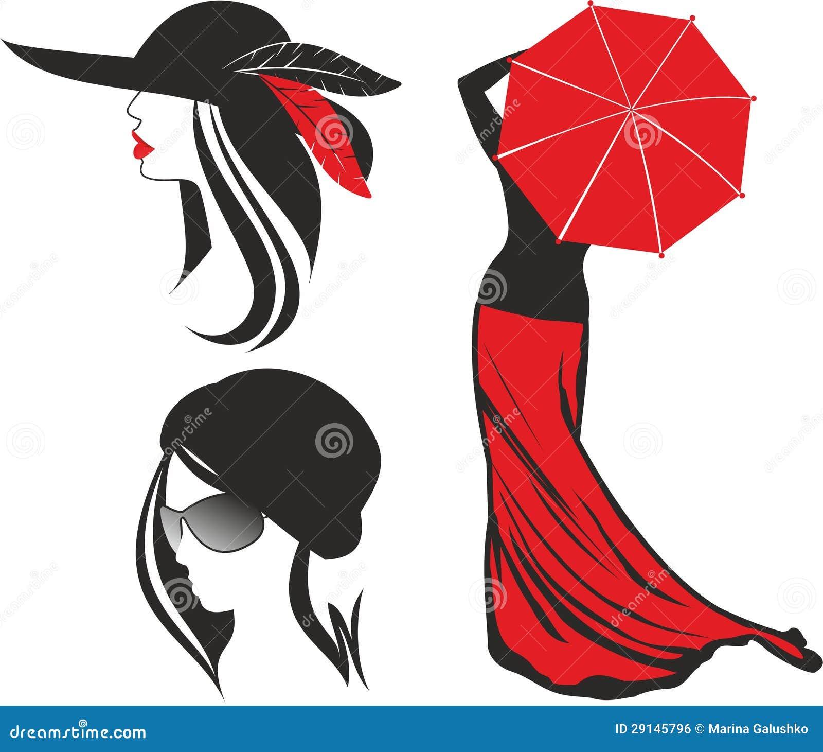 Силуэт женщины иллюстрация штока. иллюстрации ... Силуэт Женщины В Платье Вектор