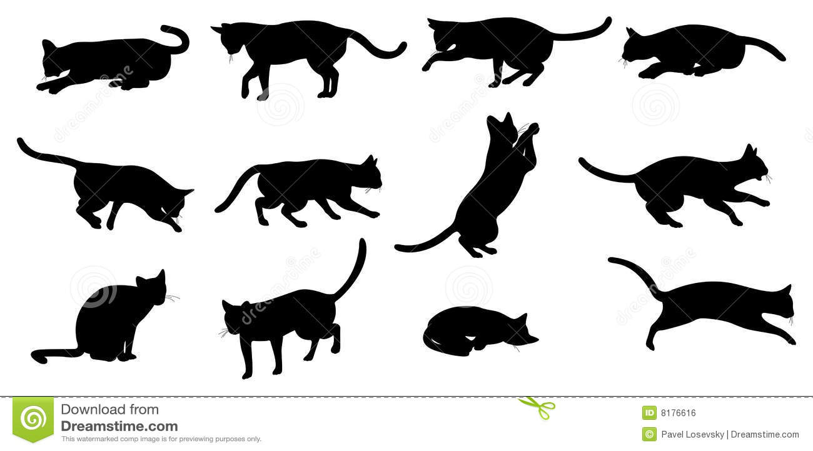 Кот картинки силуэт