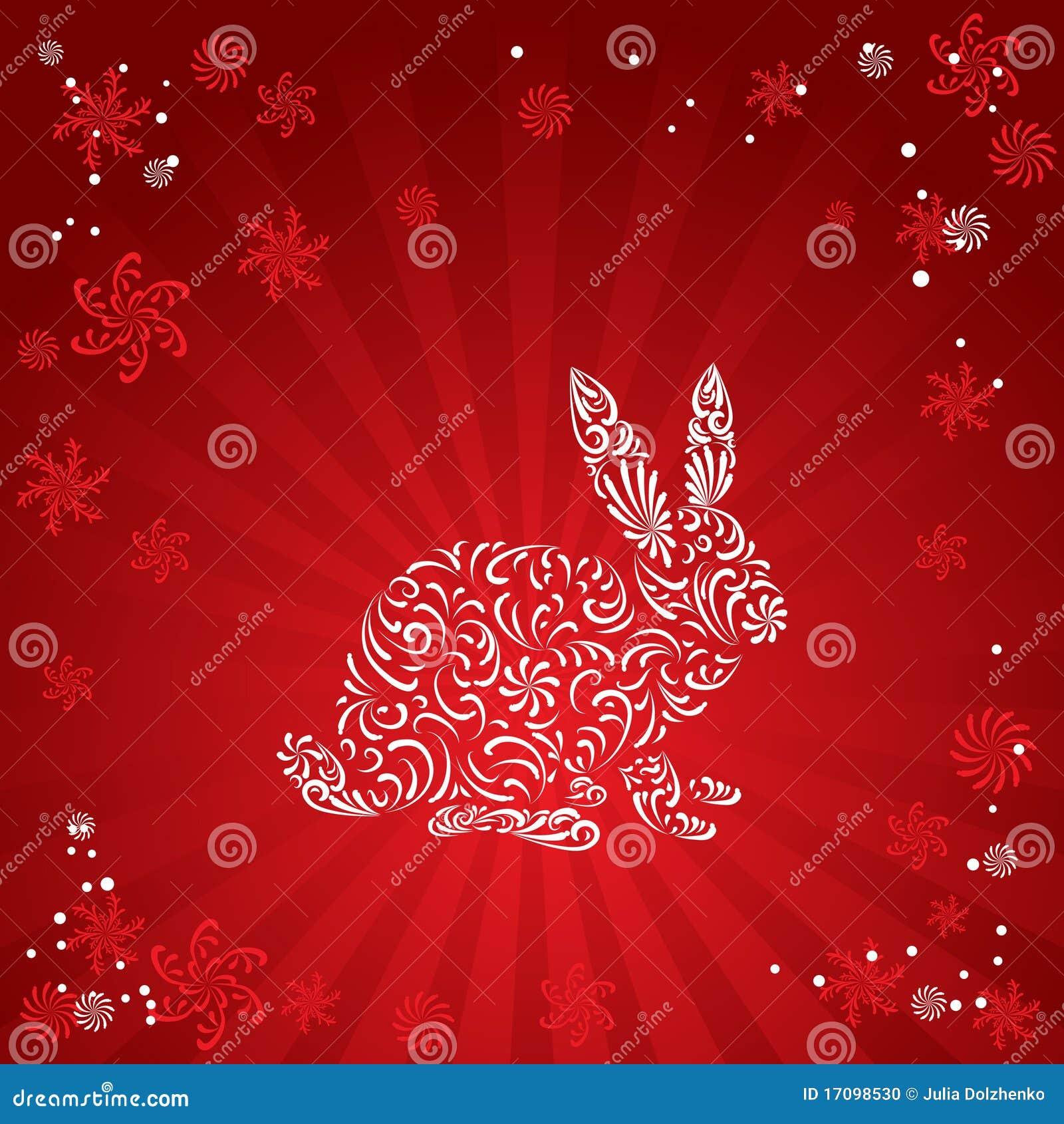силуэт кролика s