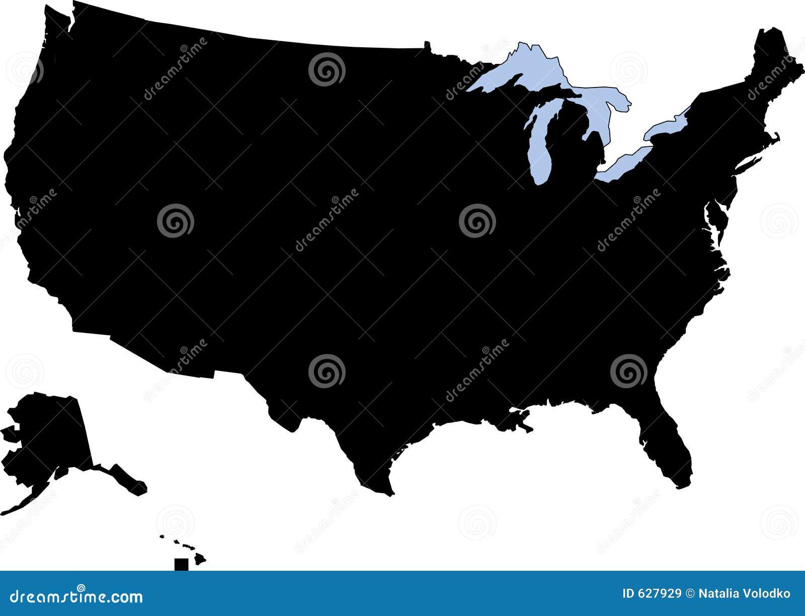 Download силуэт США иллюстрация штока. иллюстрации насчитывающей черный - 627929