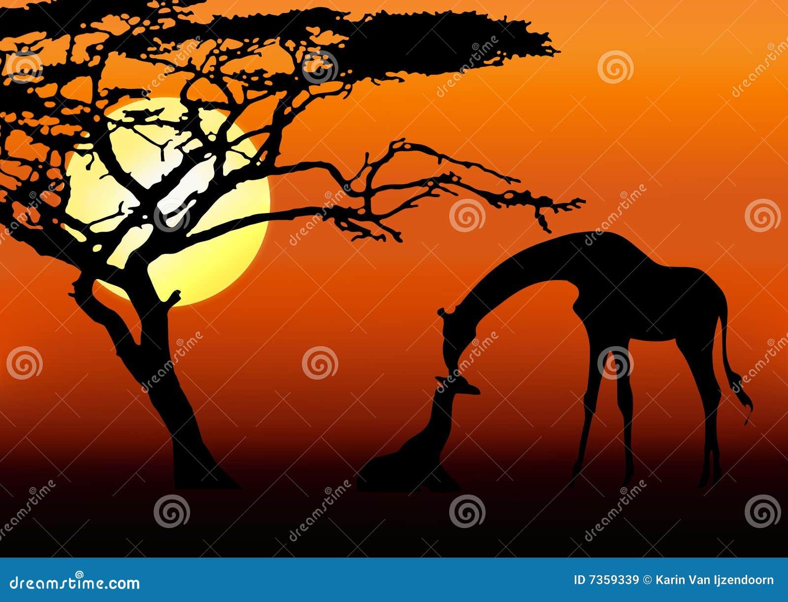 силуэт giraffe младенца