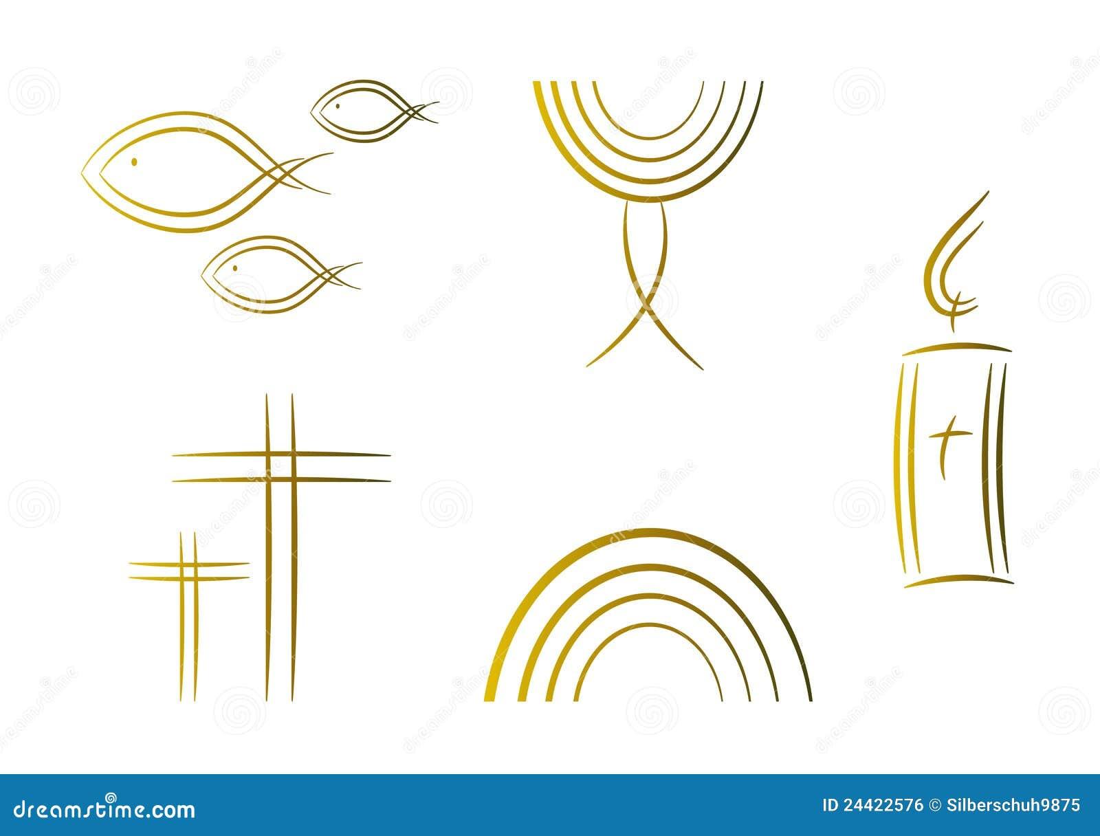 символы абстрактного золота вероисповедные установленные