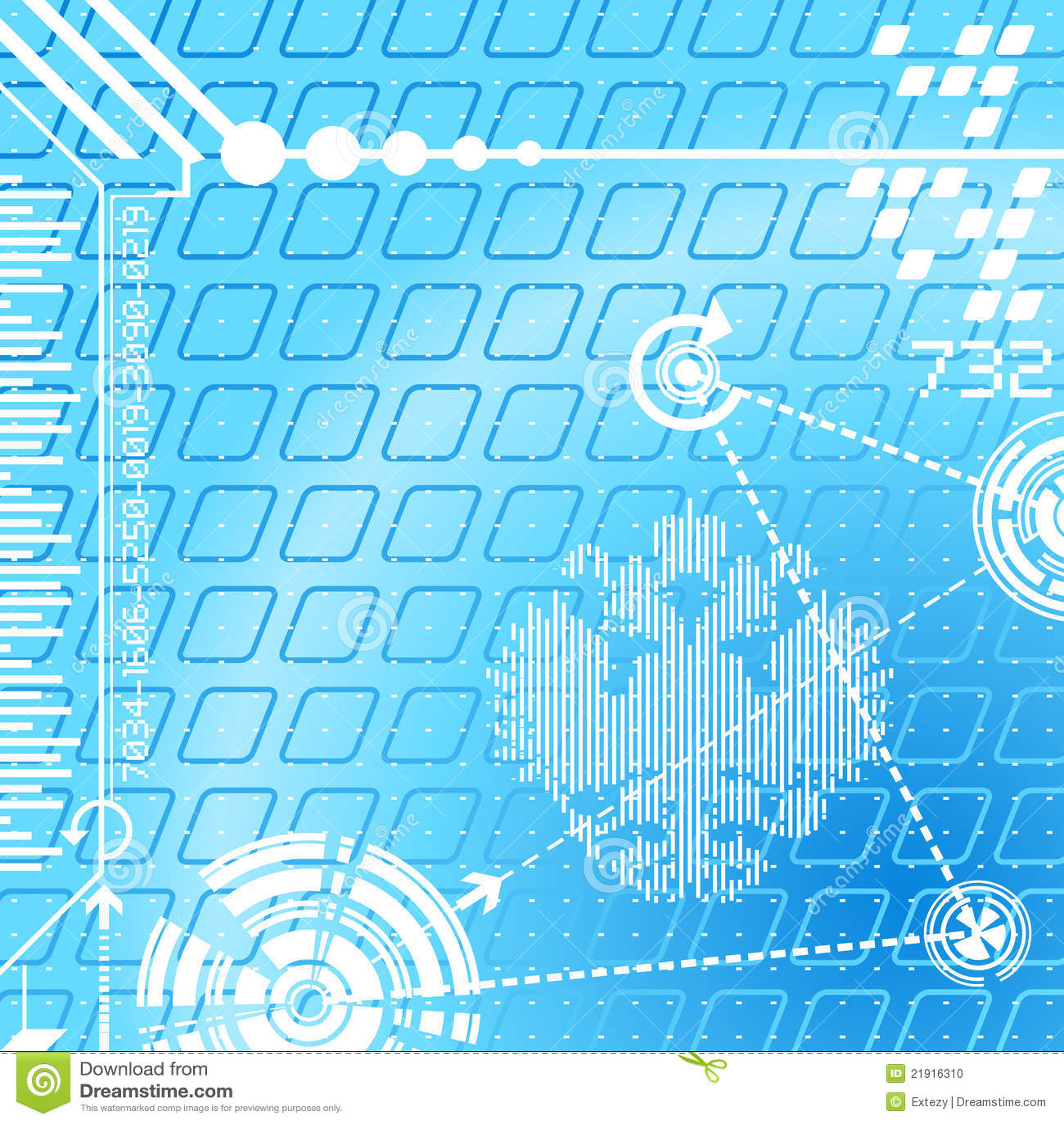 символы абстрактной предпосылки цифровые