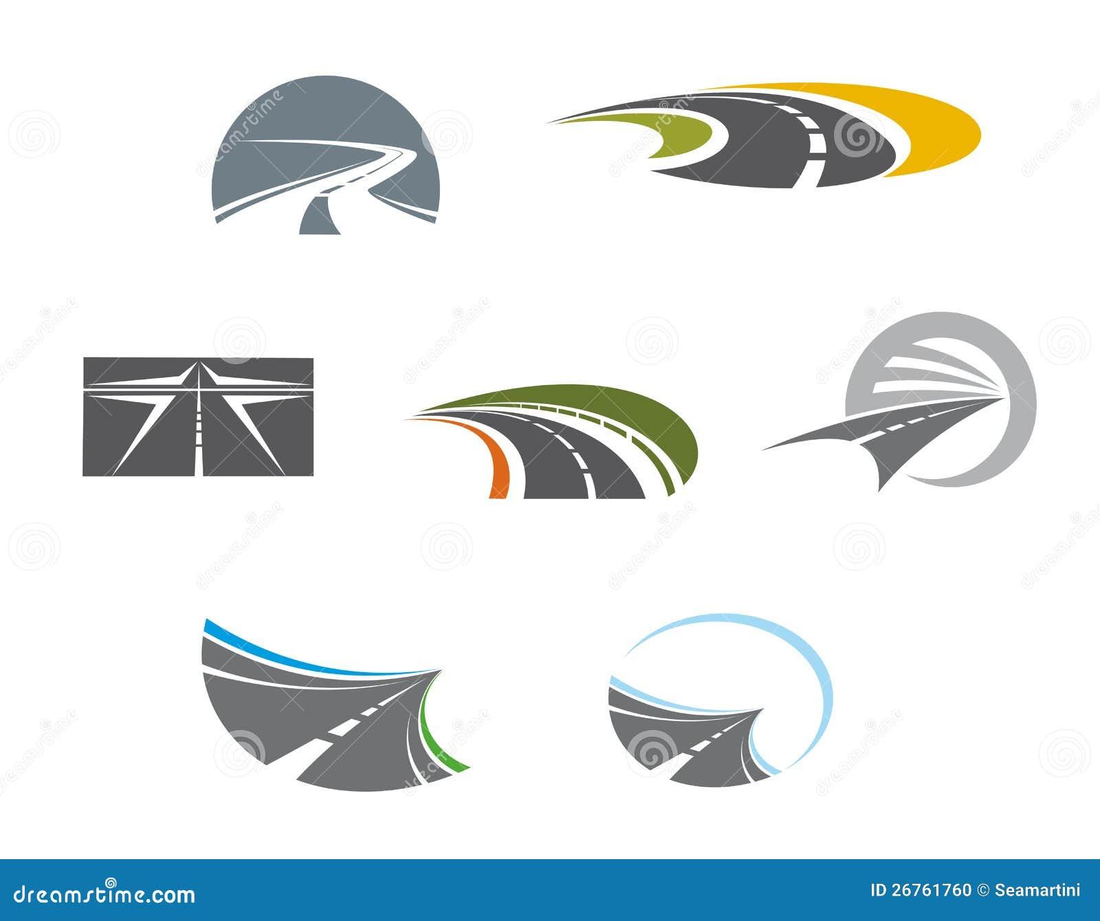Символы и pictograms дороги