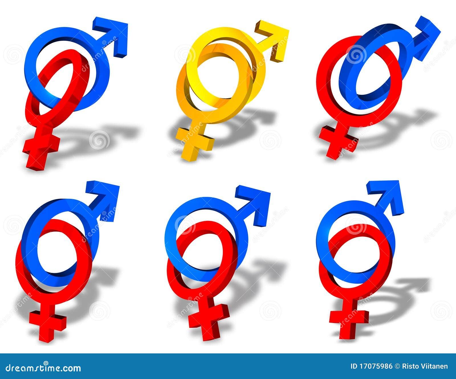 символы пар женские мыжские