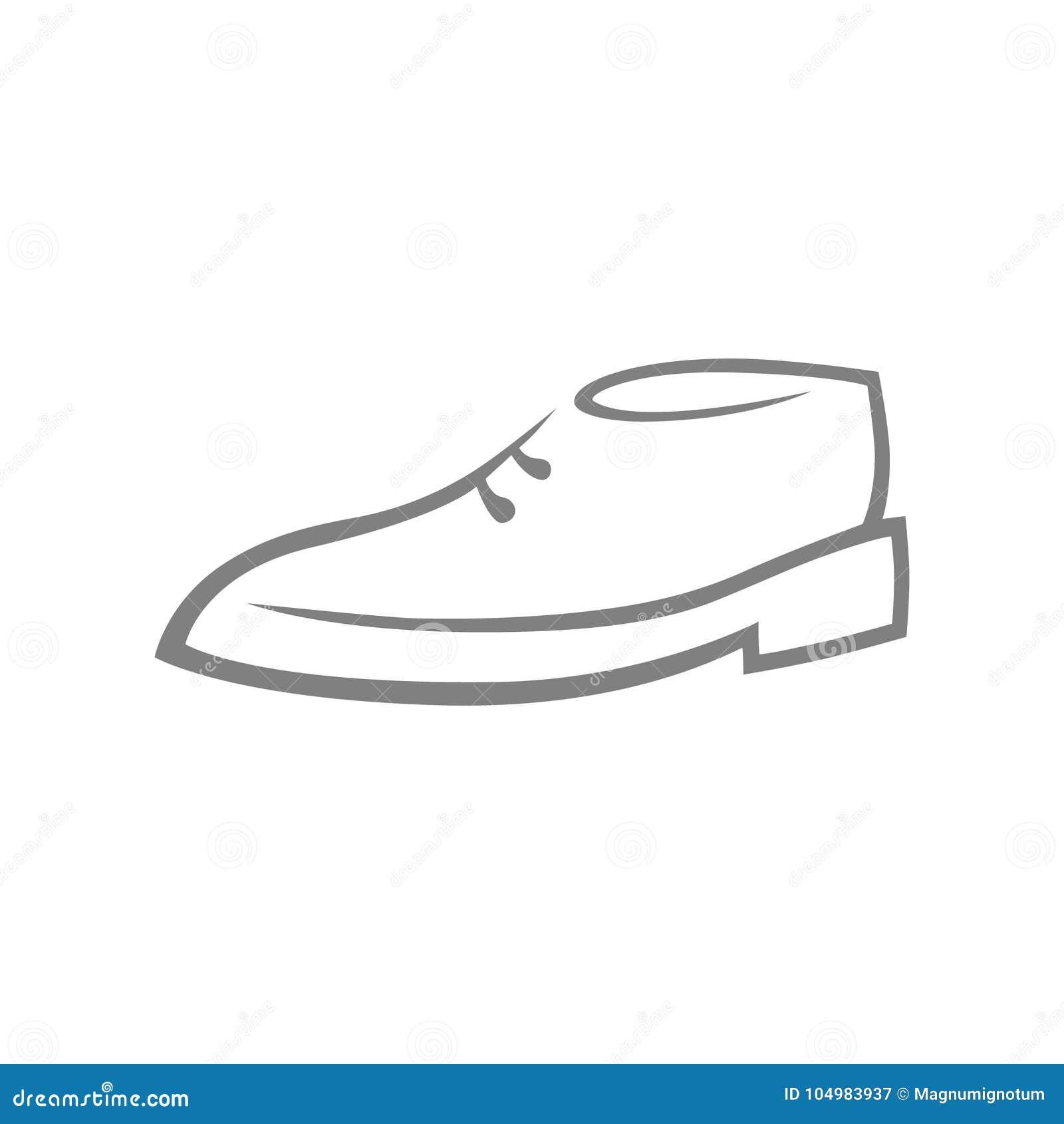 Символ ботинка, значок на белизне
