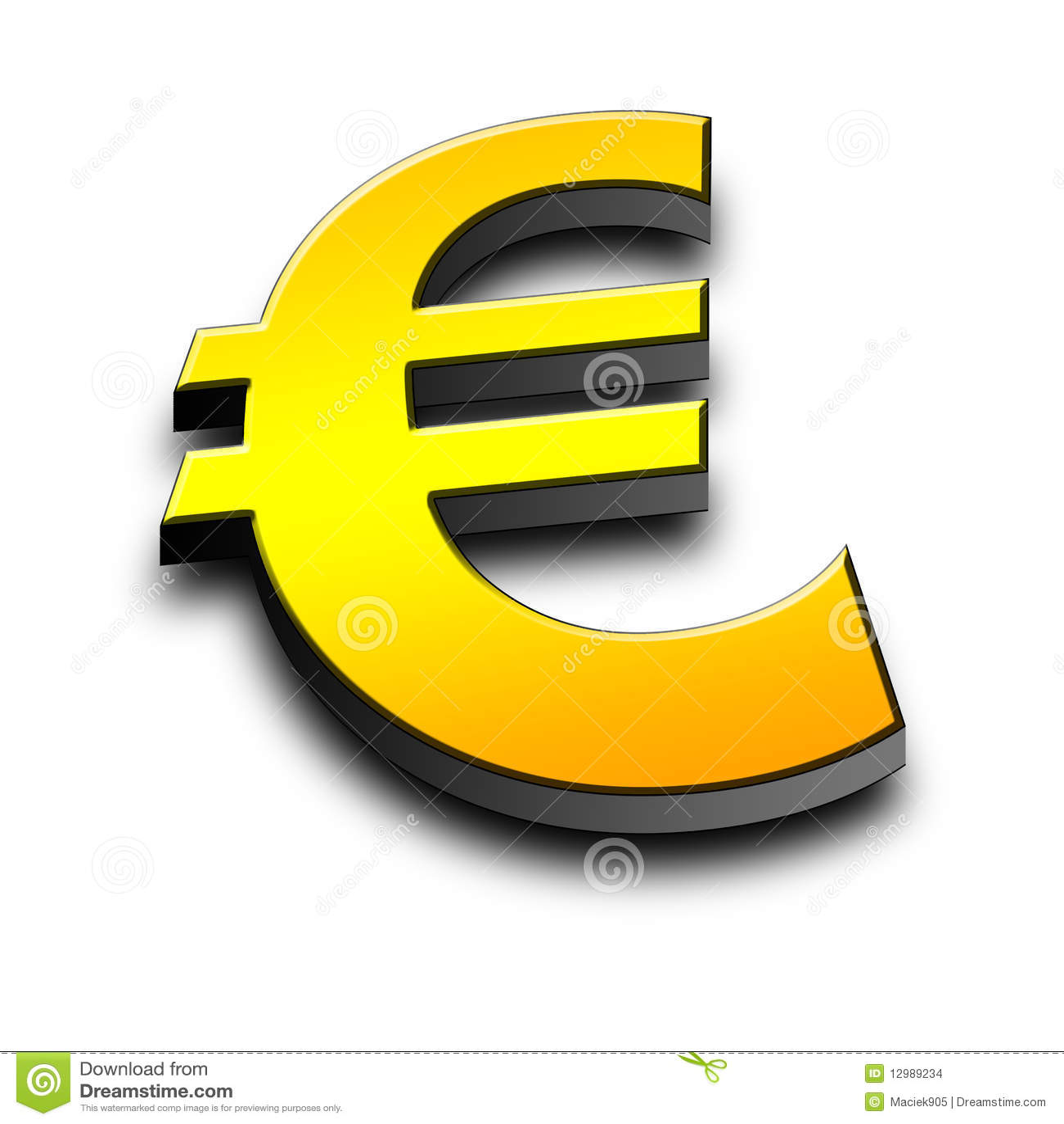 символ евро 3d